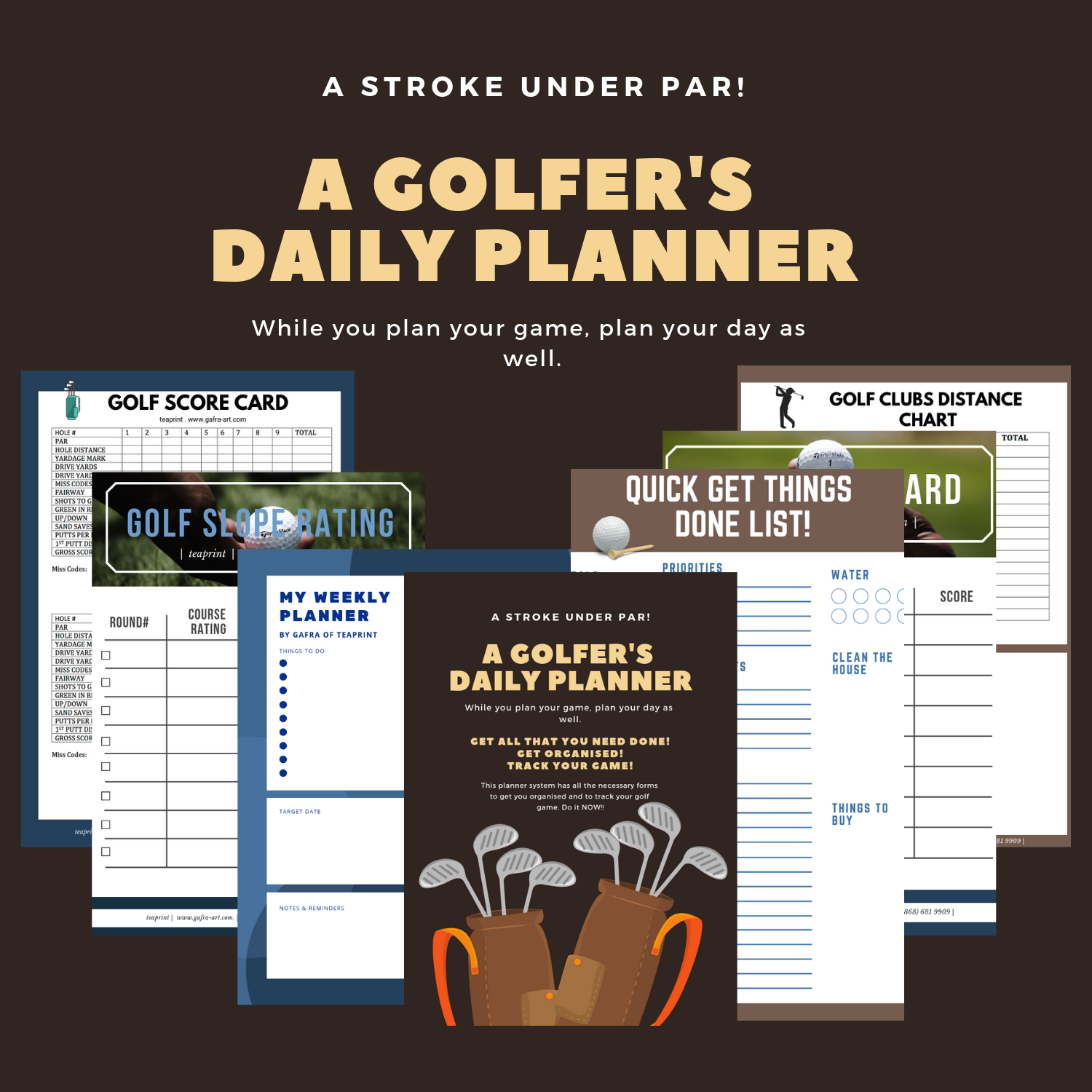 Get this   PRINTABLES PLANNERS HERE    It has some helpful scorecards and forms for the golfing enthusiast