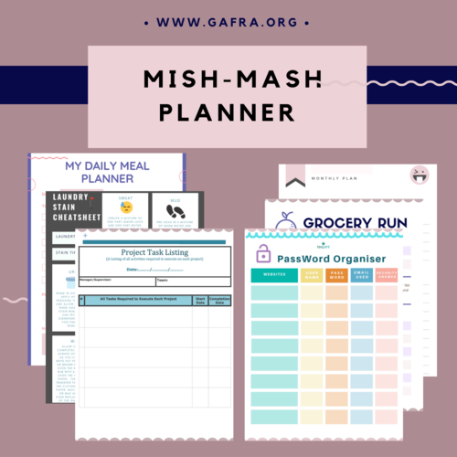 Mish-Mash Planner, Printable Planner, Password Page, Blog Page, Instant  Download, PDF, Daily Planner