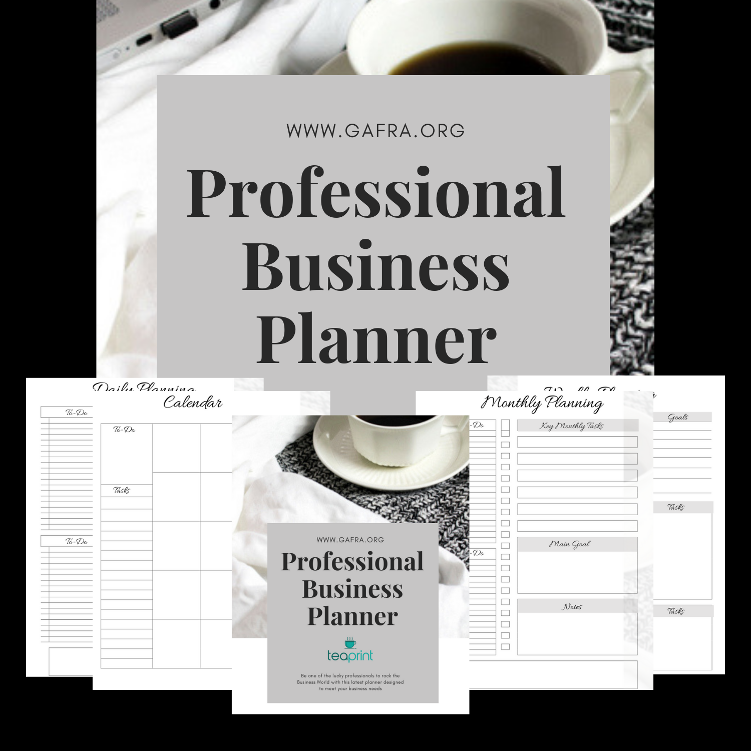 Professional Business Planner at www.etsy.com/shop/teaprint