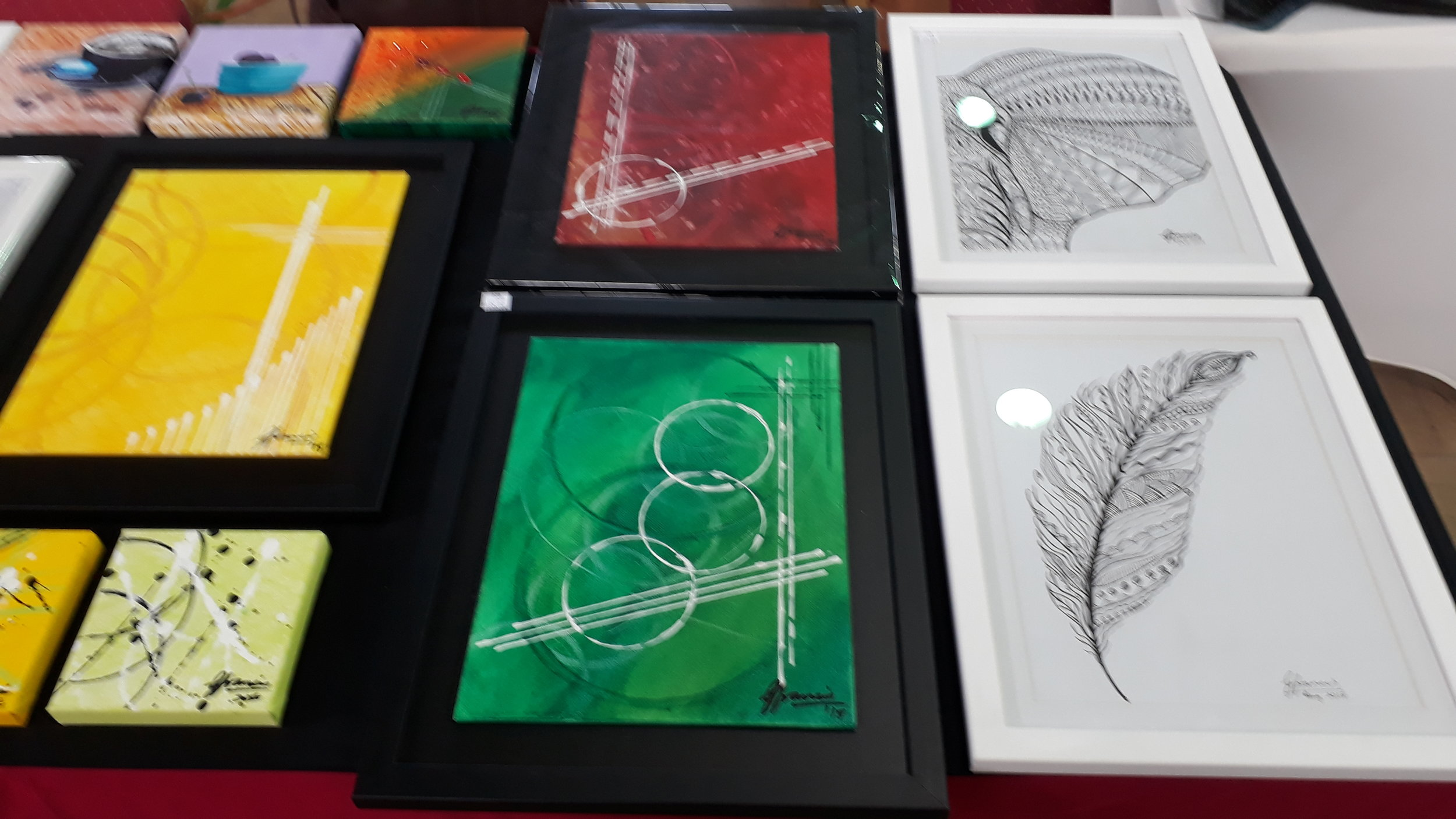 My Artwork on display at the WYF Upmarket in Trinidad May 2019