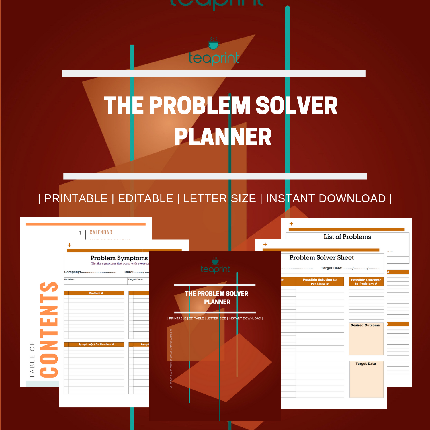 Solve your problems at the office with this Problem Solver Printable Planner