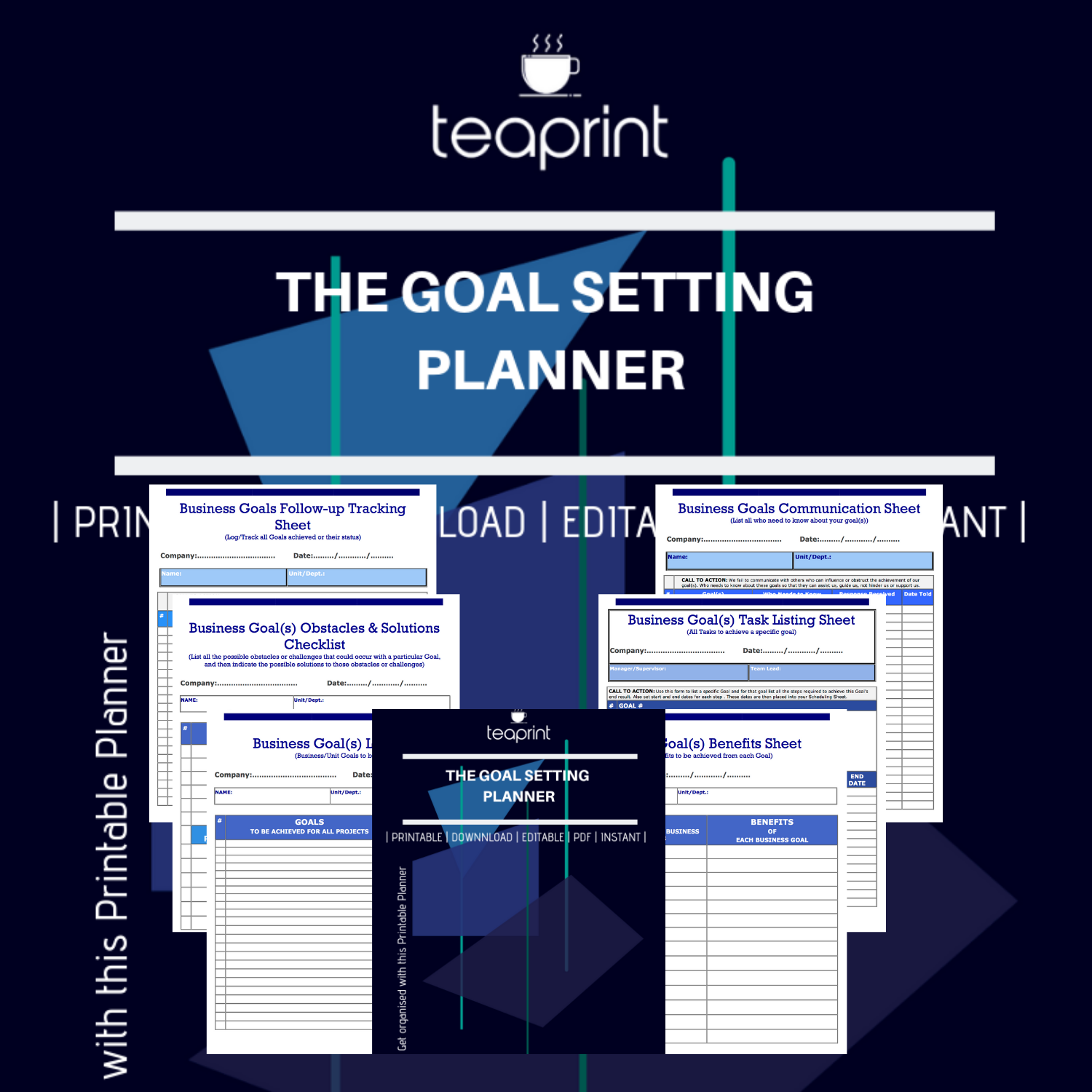 Start planning your goals with this Printable Goal Setting Planner