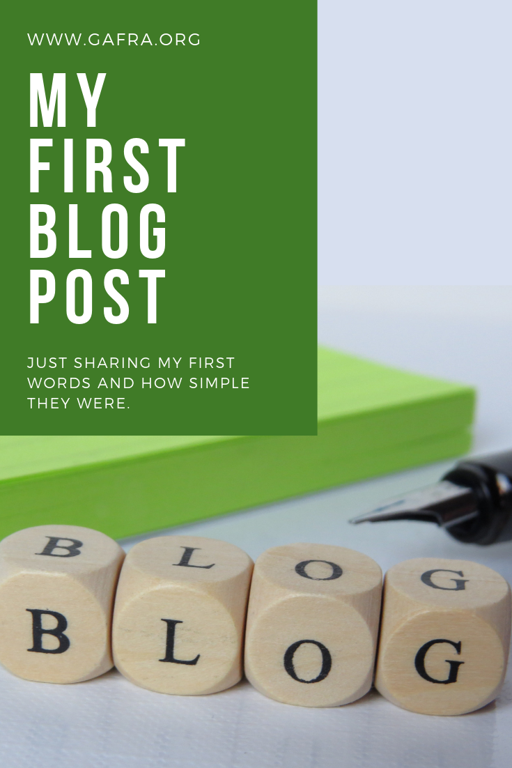 My First Blog Post written September 14, 2017