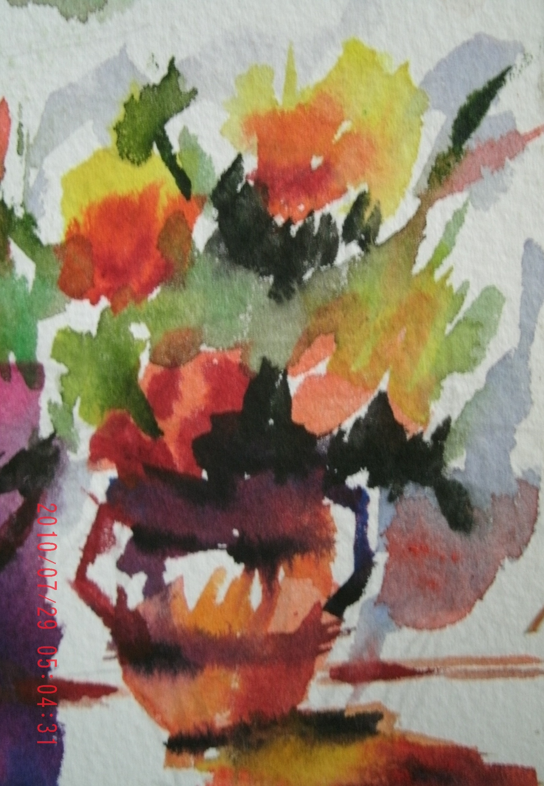 AN ABSTRACT BOUQUET OF FLOWERS - AVAILABLE AS A PRINT