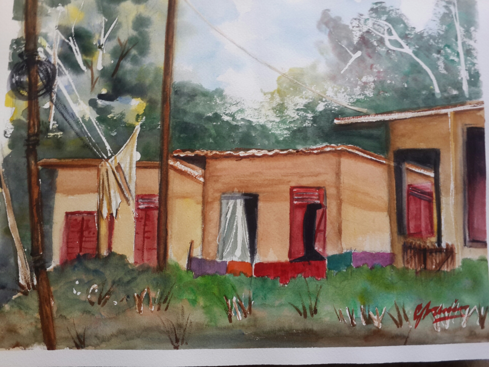 Gran Couve Hut - Watercolour Piece