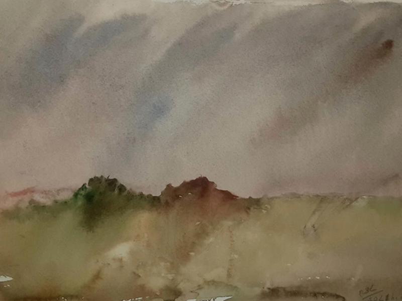 The Mound-TM2017 - An Original Watercolour painting