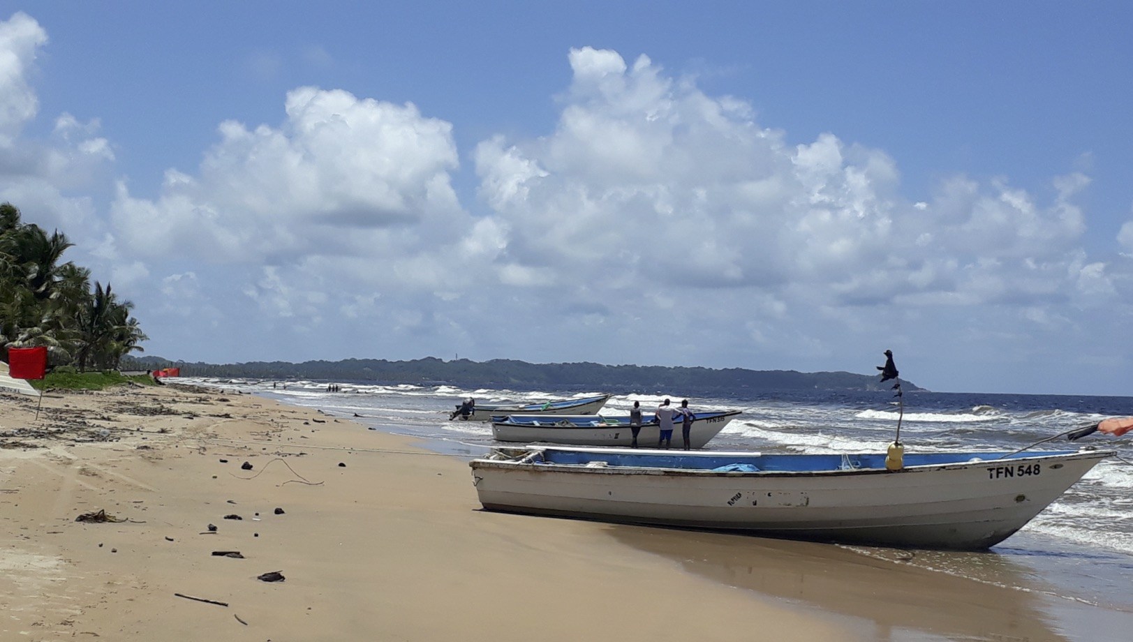 3 Fishing Boats on the beach