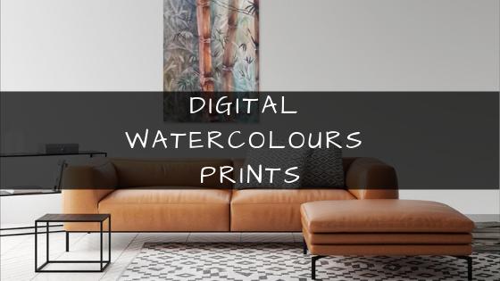Digital Watercolour Prints