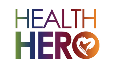 Health Hero Logo - client of Jill Wichner