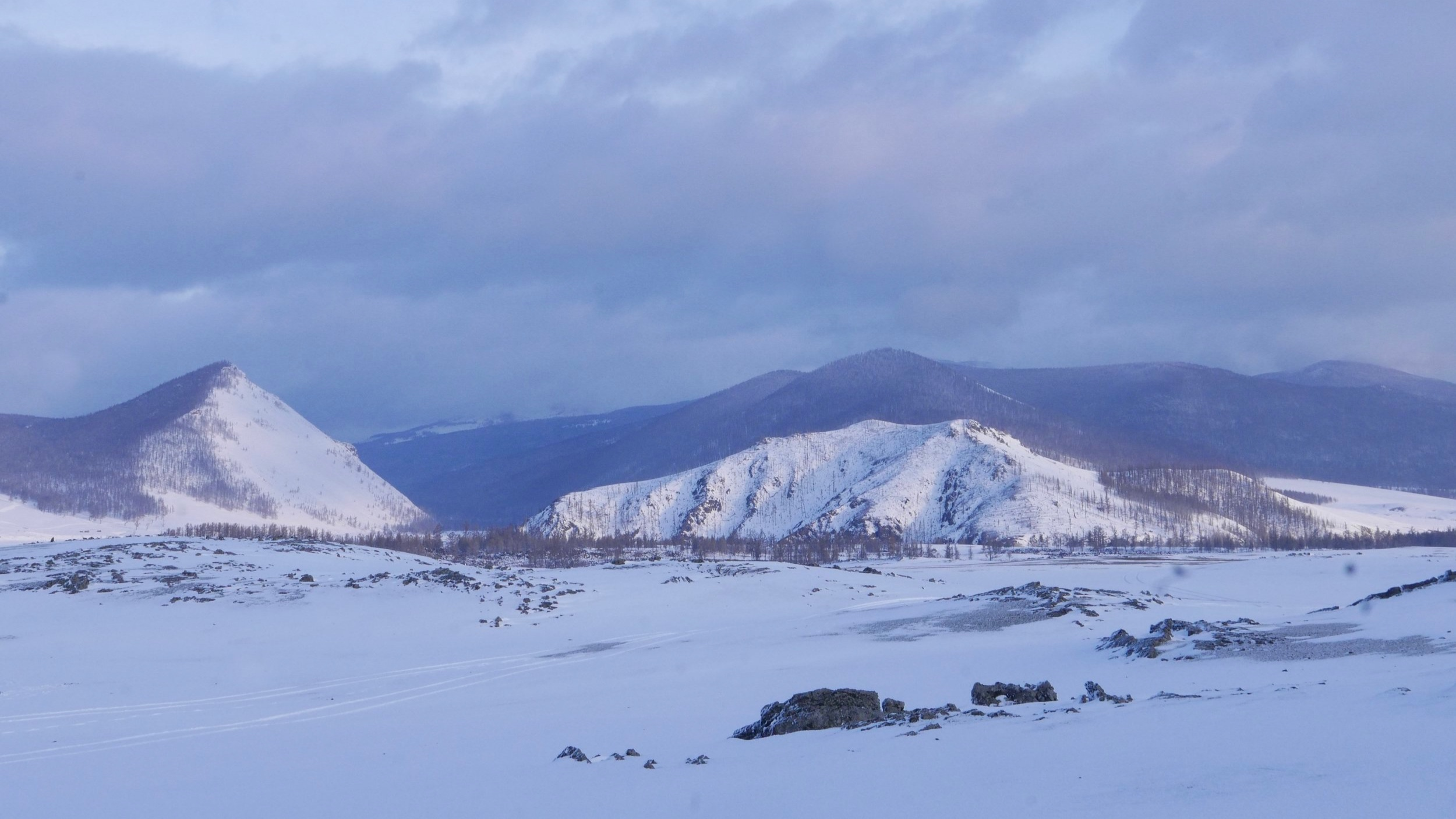 Oh… and endless snowy mountains