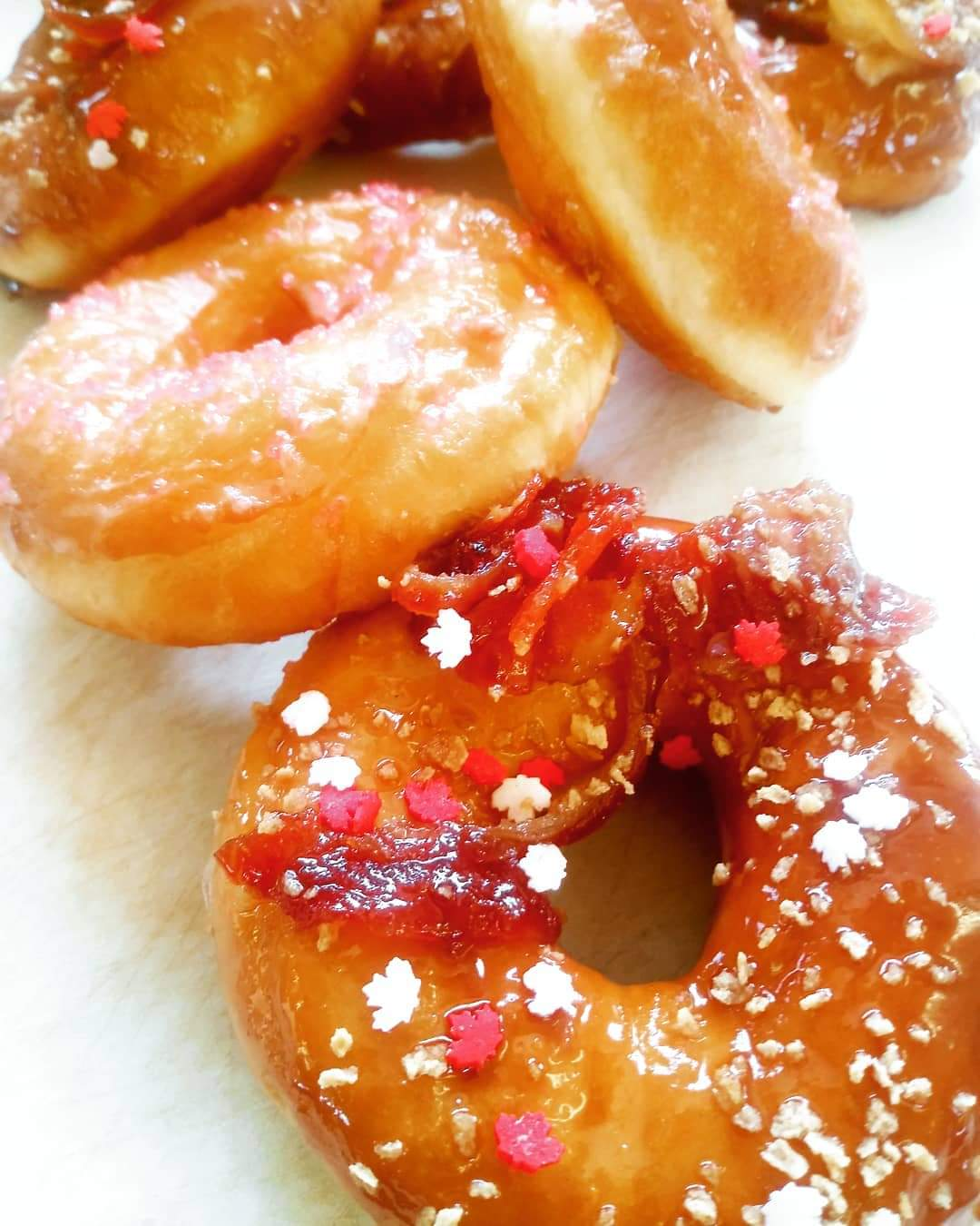 GREAT SUCCESS - Maple Nutella/Bacon Glazed Donuts