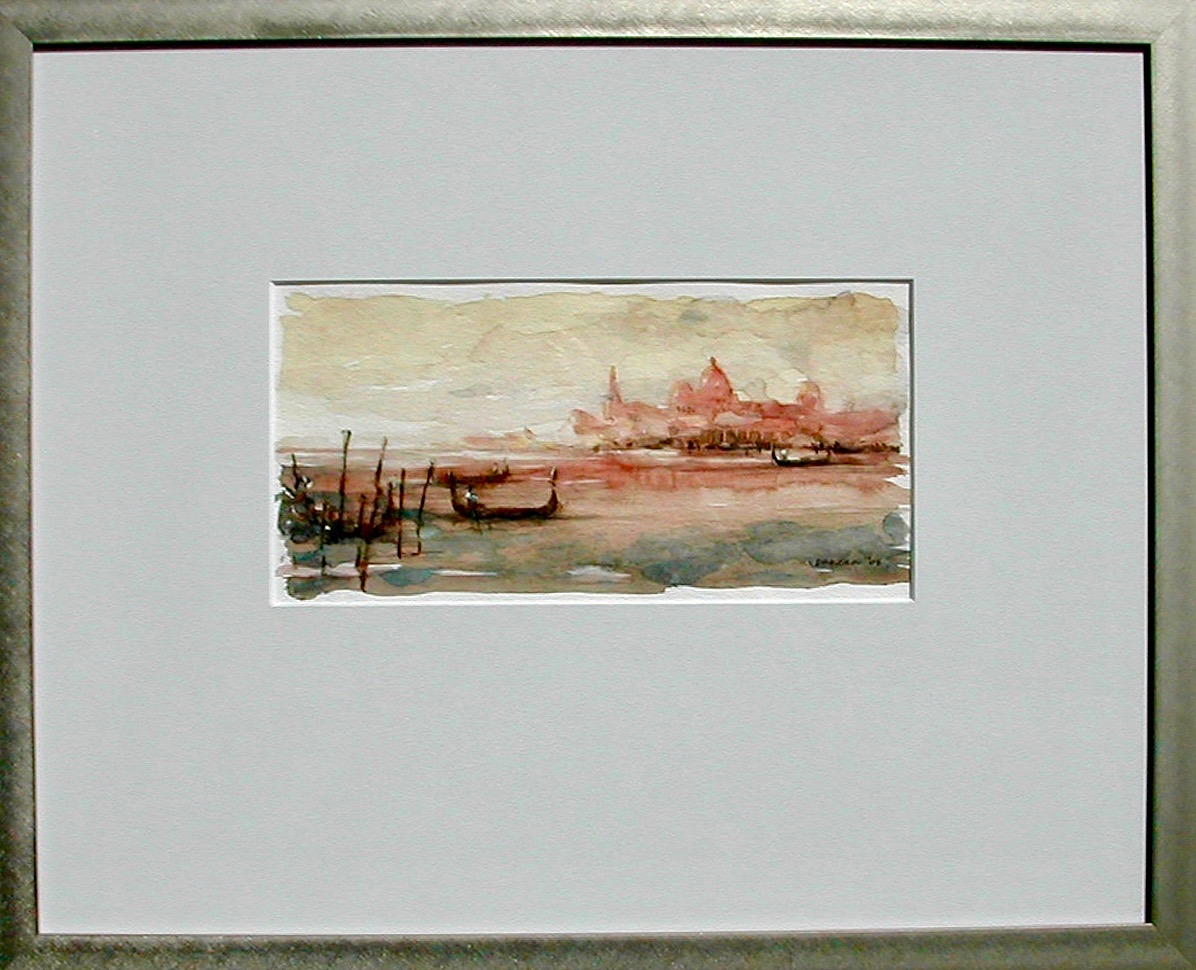 "Venice Study   Watercolor on paper  11"" x 5½"""