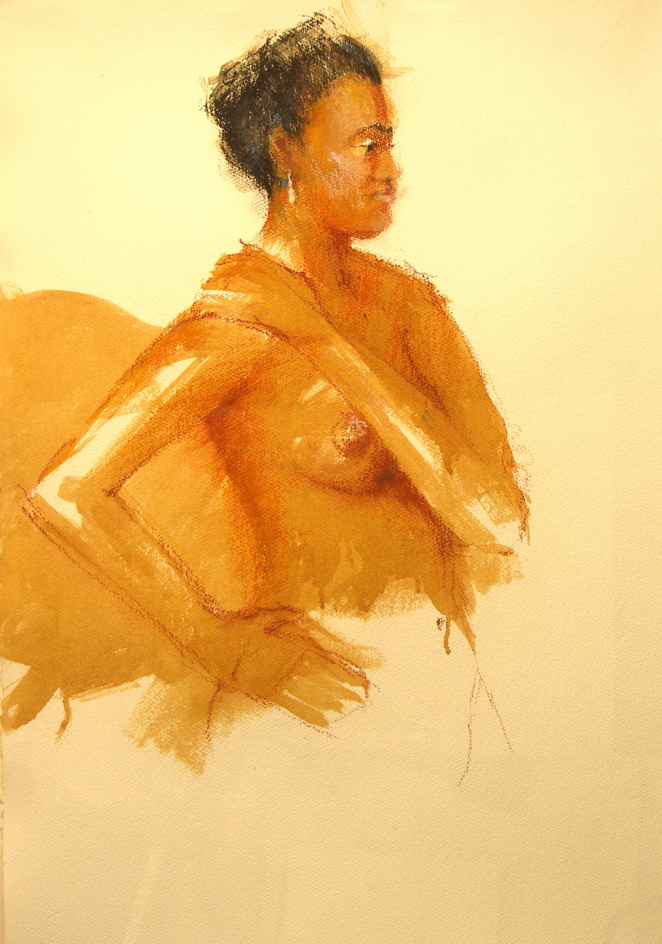 """Rosalind Moret   Oil on paper  24"""" x 32"""""""