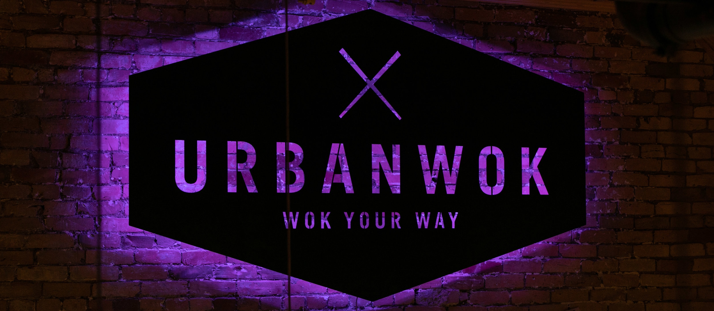 Urban Wok Neon Sign in Lowertown