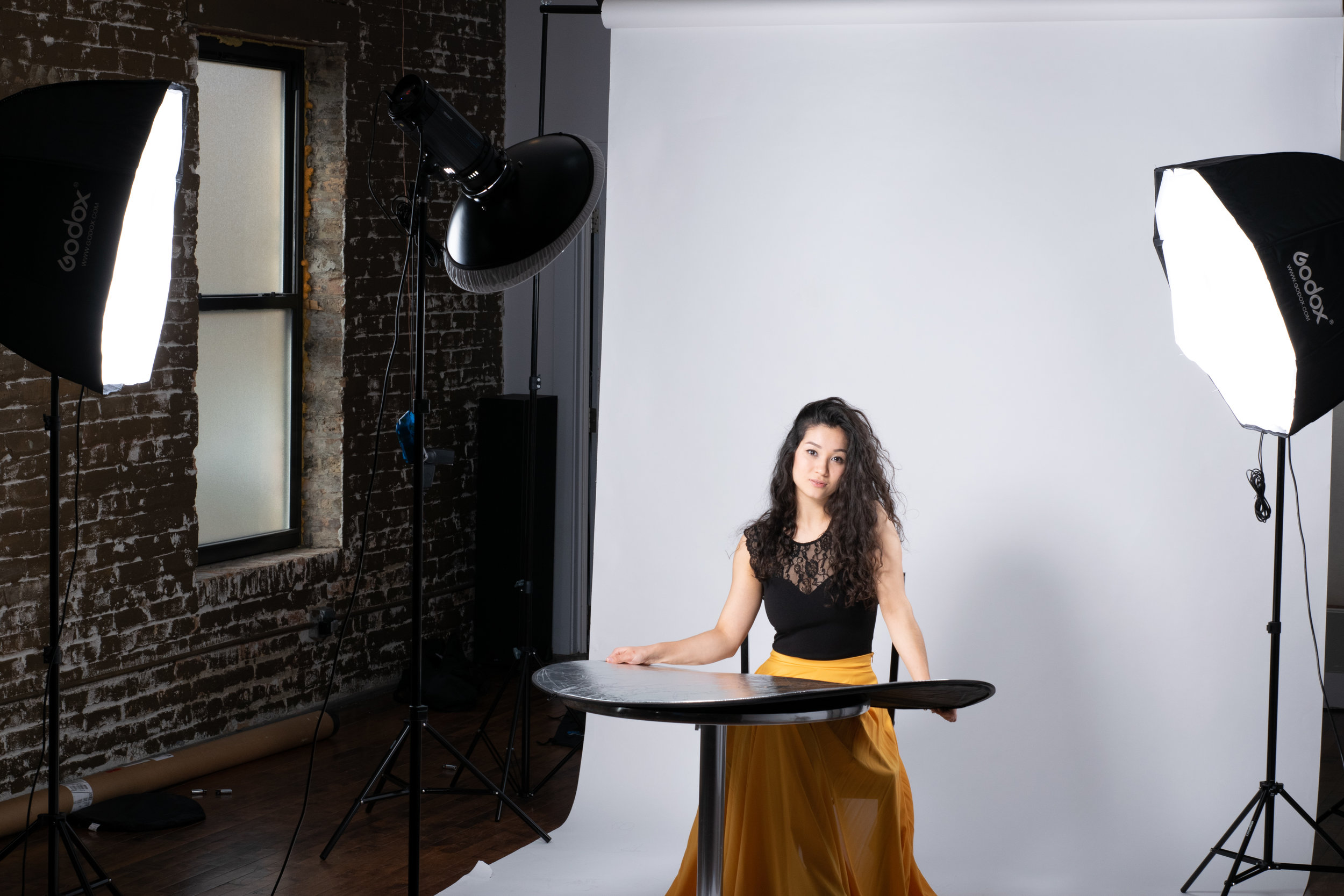 We offer professional photography services and photo studio rental space. -