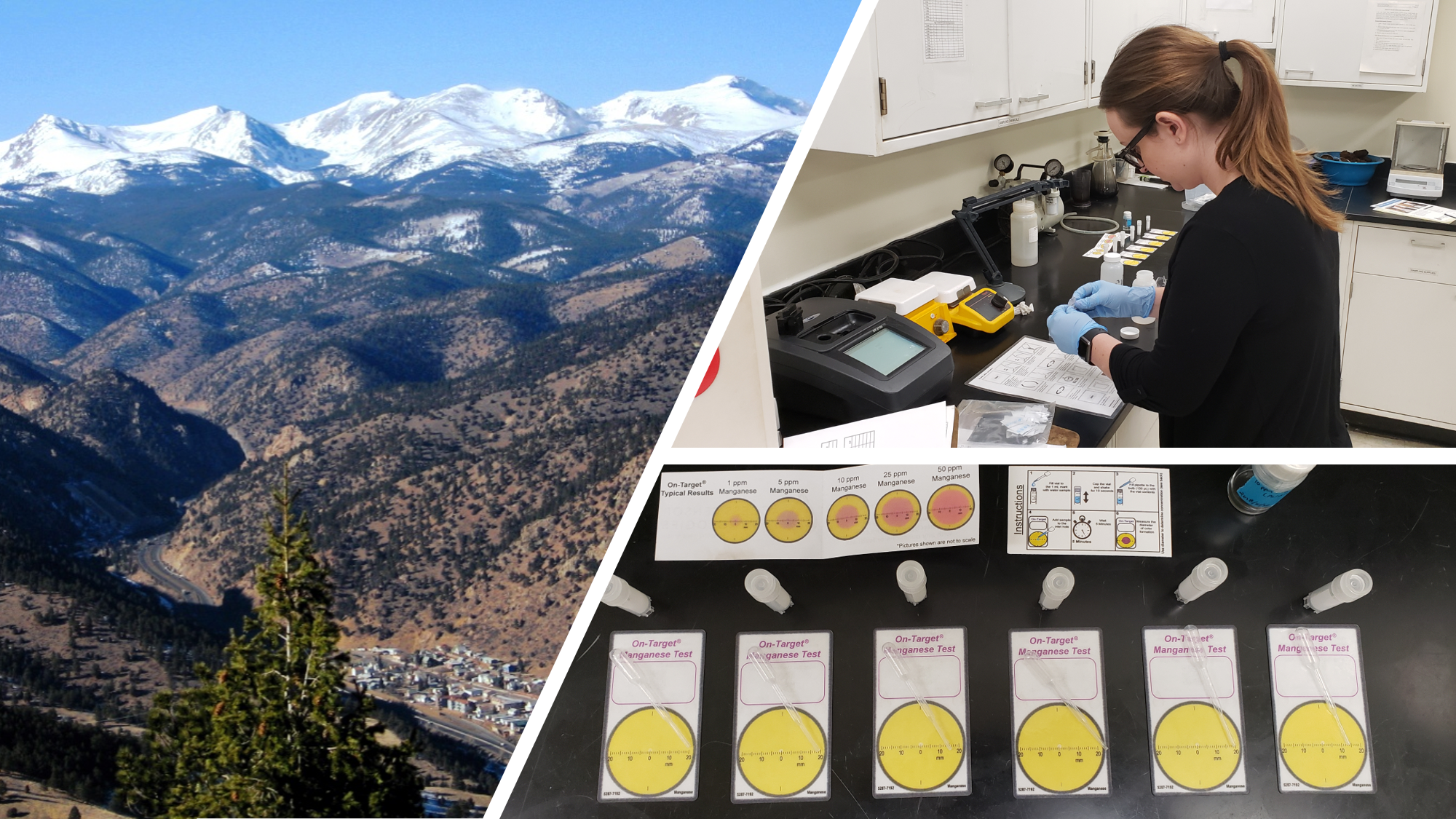 On-Target® Water Testing near Idaho Springs, Colorado.