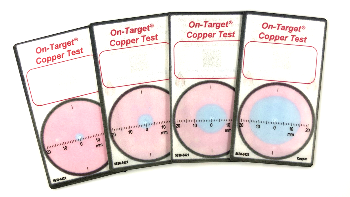 We offer a variety of testing cards, we think that you will like our copper testing card. - We also know that there can be significant quantities of waster waters containing heavy metals. We also offer testing cards that include:*Cadmium*Zinc*Iron*Manganese