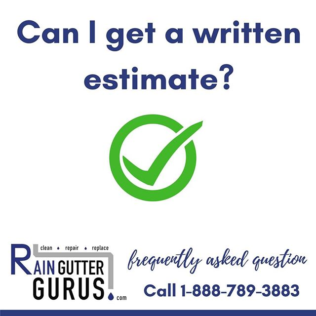 Q: Can I get a written estimate?  A: Yes, we'll tell you what needs to be done to complete the job, and what we recommend going forward to protect your home. In some cases the work can be completed same day or can be scheduled for another day if you prefer. Call today to schedule an appointment. 1-888-789-3883  #rainguttergurus #💧 #savewater #windowwashinggurus #5staryelp #luxuryhomes#homedecor #architecture #rainbarrel #realestate #coppergutters #seamlessgutters#licensedbondedinsured #luxuryrealestate #ecofriendly #rainwaterdiversion#protectyourproperty #rainbarrelinstallation #rainguttercleaning #raingutterrepair#raingutterinstallation #loansbysuzette #southerncalifornia#cleanlinessisnexttogodliness #befreelittlegutters #cleanyourgutters #savemoney#protectyourproperty