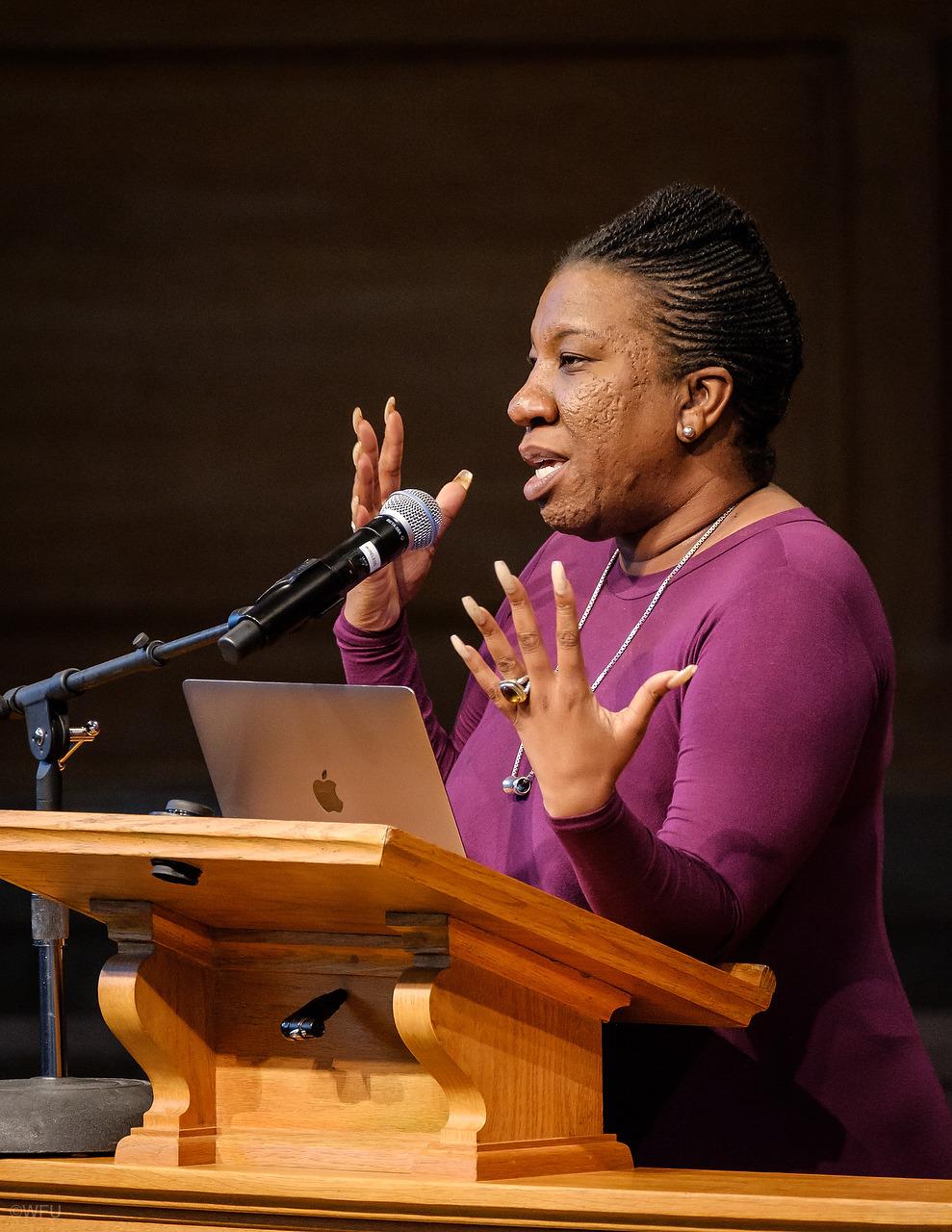 "Tarana Burke, founder of the ""Me Too"" movement visited Wake Forest University in September."
