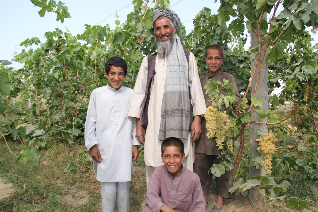 8. CHAMP benificiary grape farmer with his sons.JPG