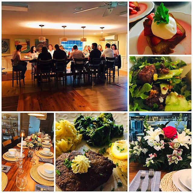 Beautiful wine dinner for 12 at the Cypress Room at Get Carried Away. #getcarriedawaycatering #pawleysislandcatering #winedinner 🍷🥗🍤🍓