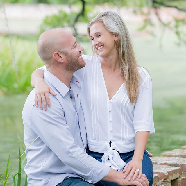 Brookgreen is such a romantic venue.  It's covered with flowers, live oak trees draped in moss, gorgeous statues, and much more.  If you are considering a photo session or wedding, you will not be disappointed!  www.CarmenAsh.com #carmenashphotography #engagement #southernwedding #plantationengagement #plantationwedding #weddingphotographer #myrtlebeachweddingphotographer #engagementphotos