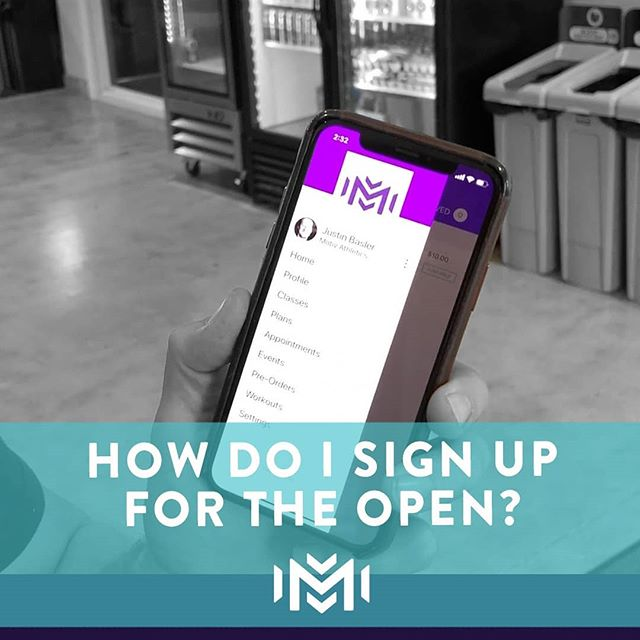 Team Motiv if you want to do the open make sure you register today. If you've registered with crossfit, your next step is to sign up on push press! Comment below if you have questions!