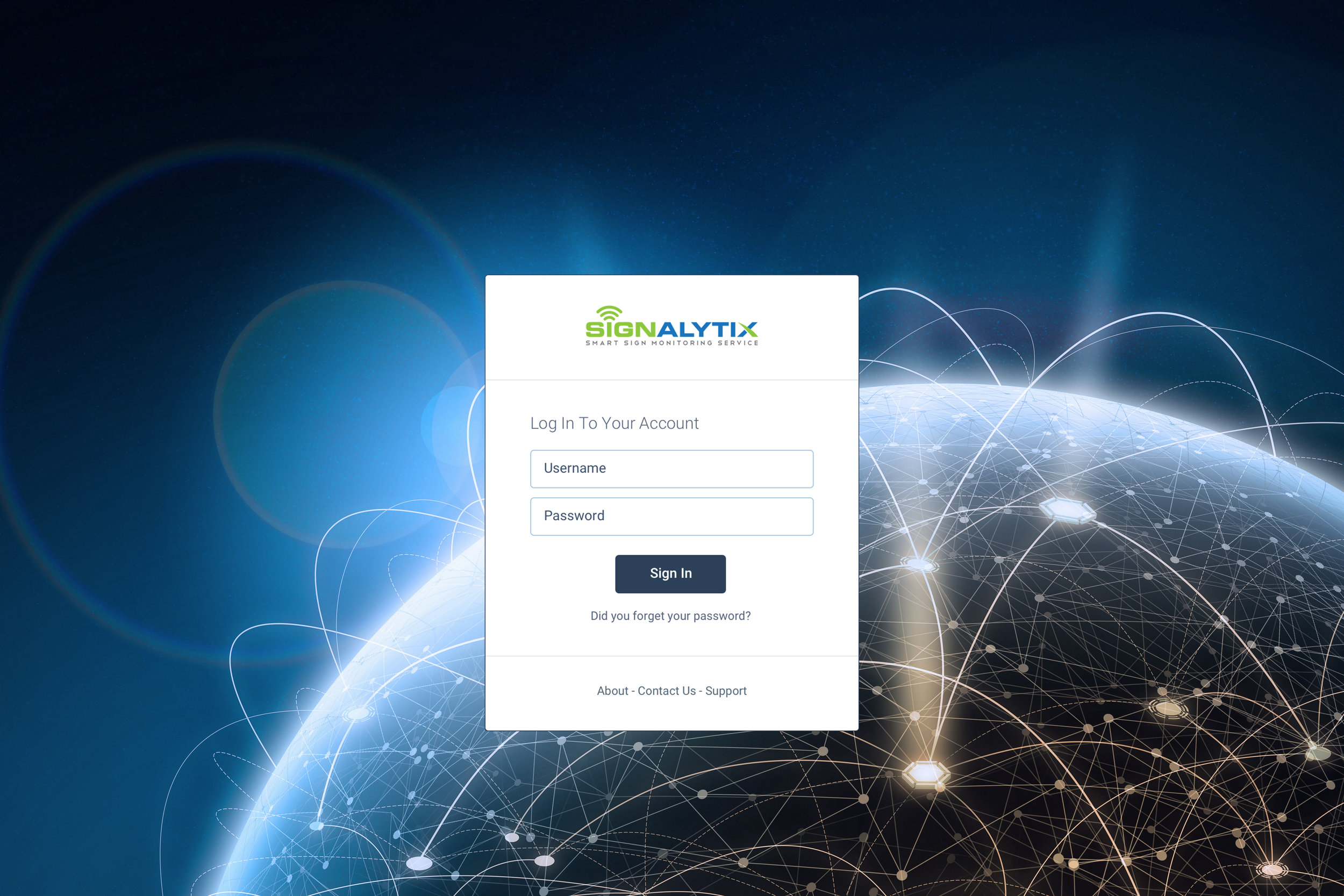 Signalytix uses a web-based dashboard that is accessible from any device with an internet connection.