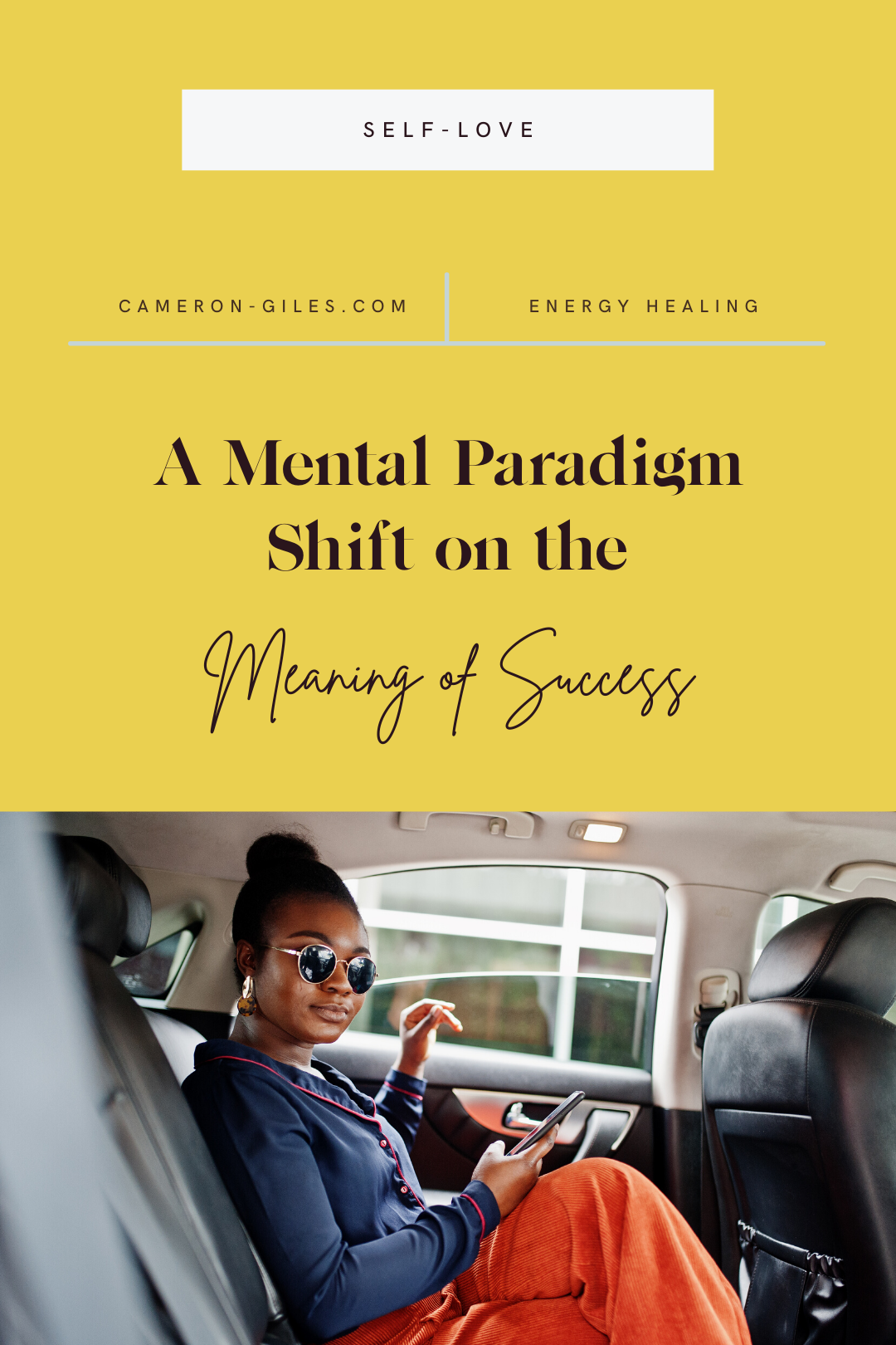 A mental paradigm shift on the meaning of success