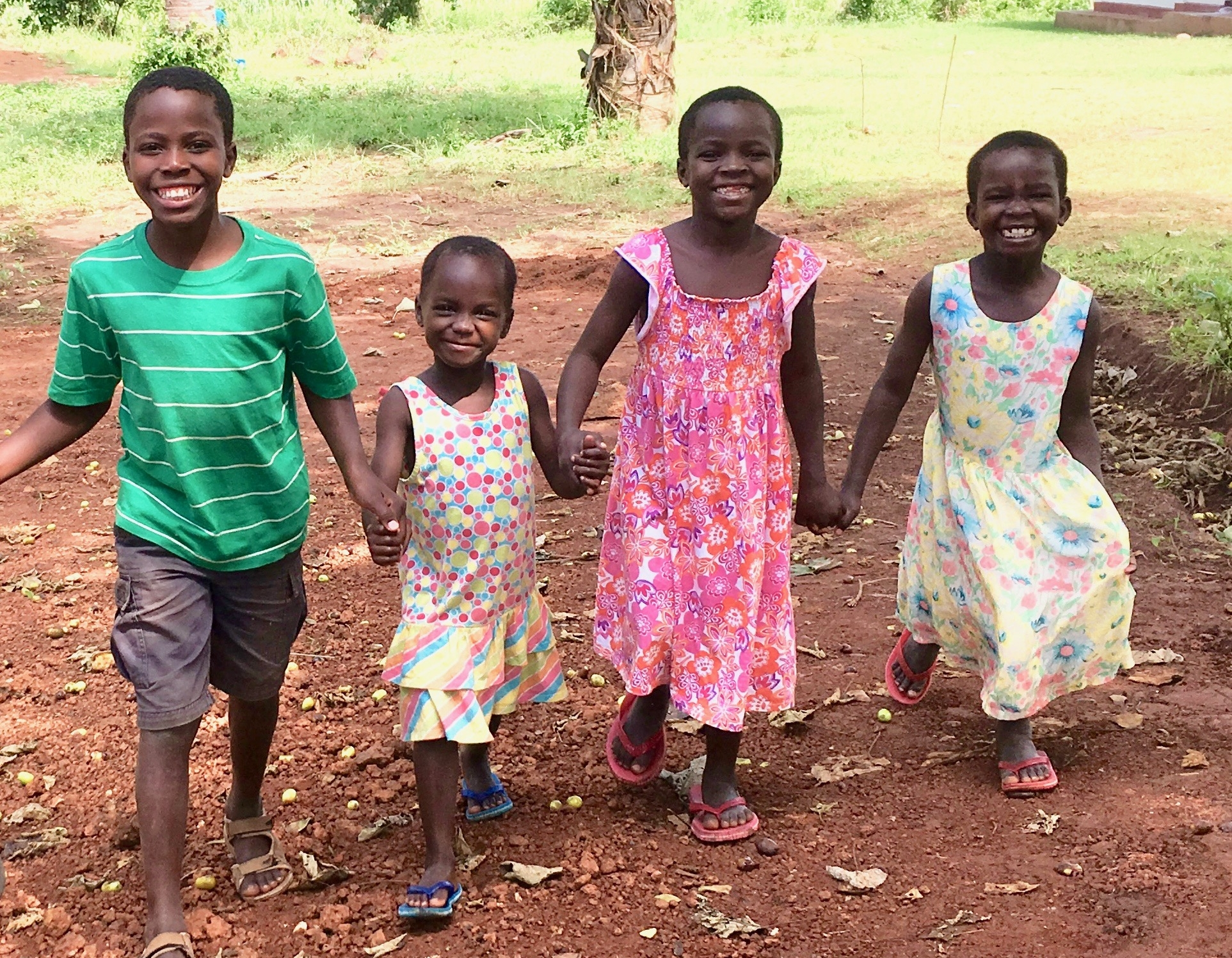 18 children experiencing love & family at our children's home. -