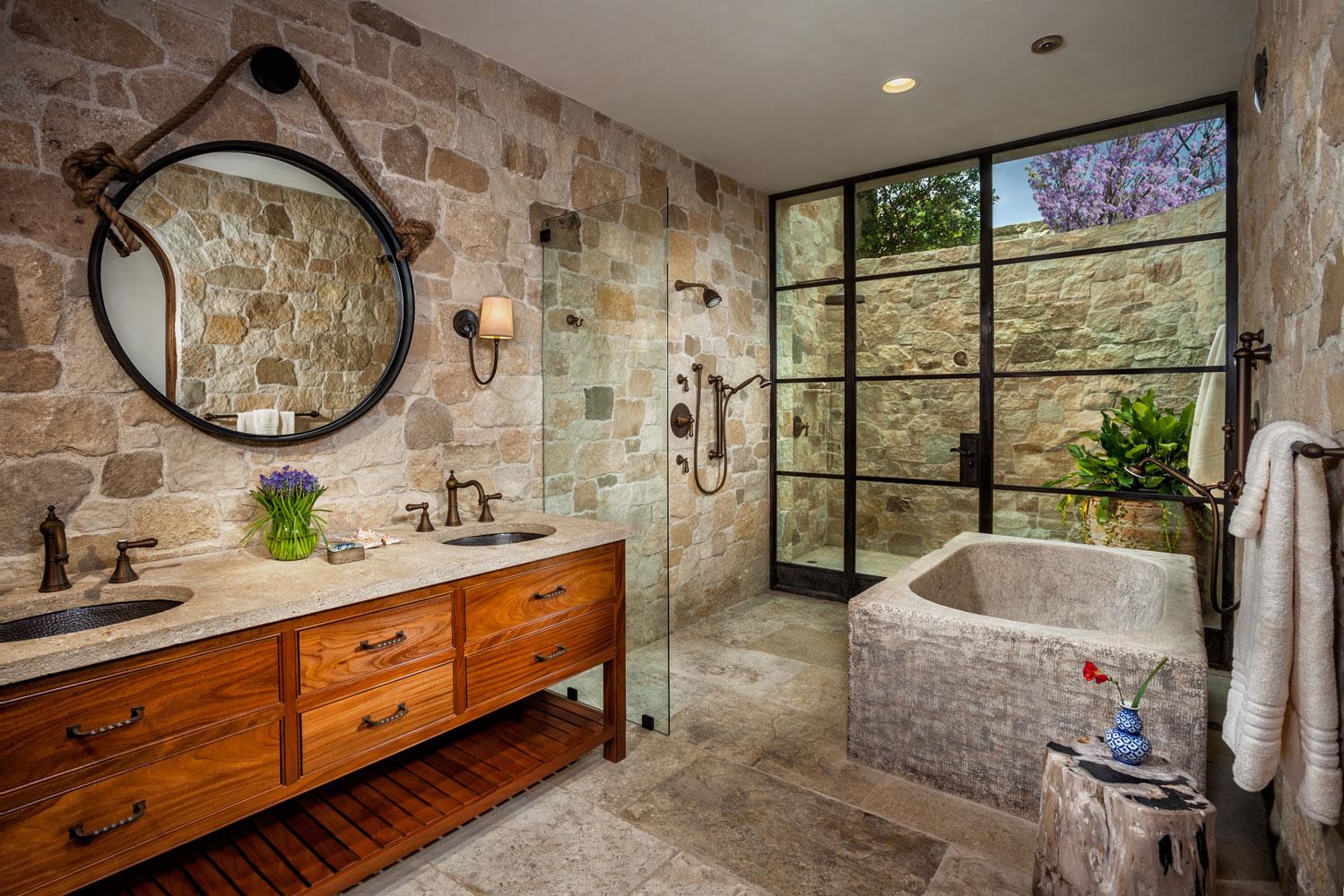 Rustic-Stone-Bathroom-Stone-Tub-Dual-Vanity-Outdoor-Shower-Corbin-Reeves.jpg
