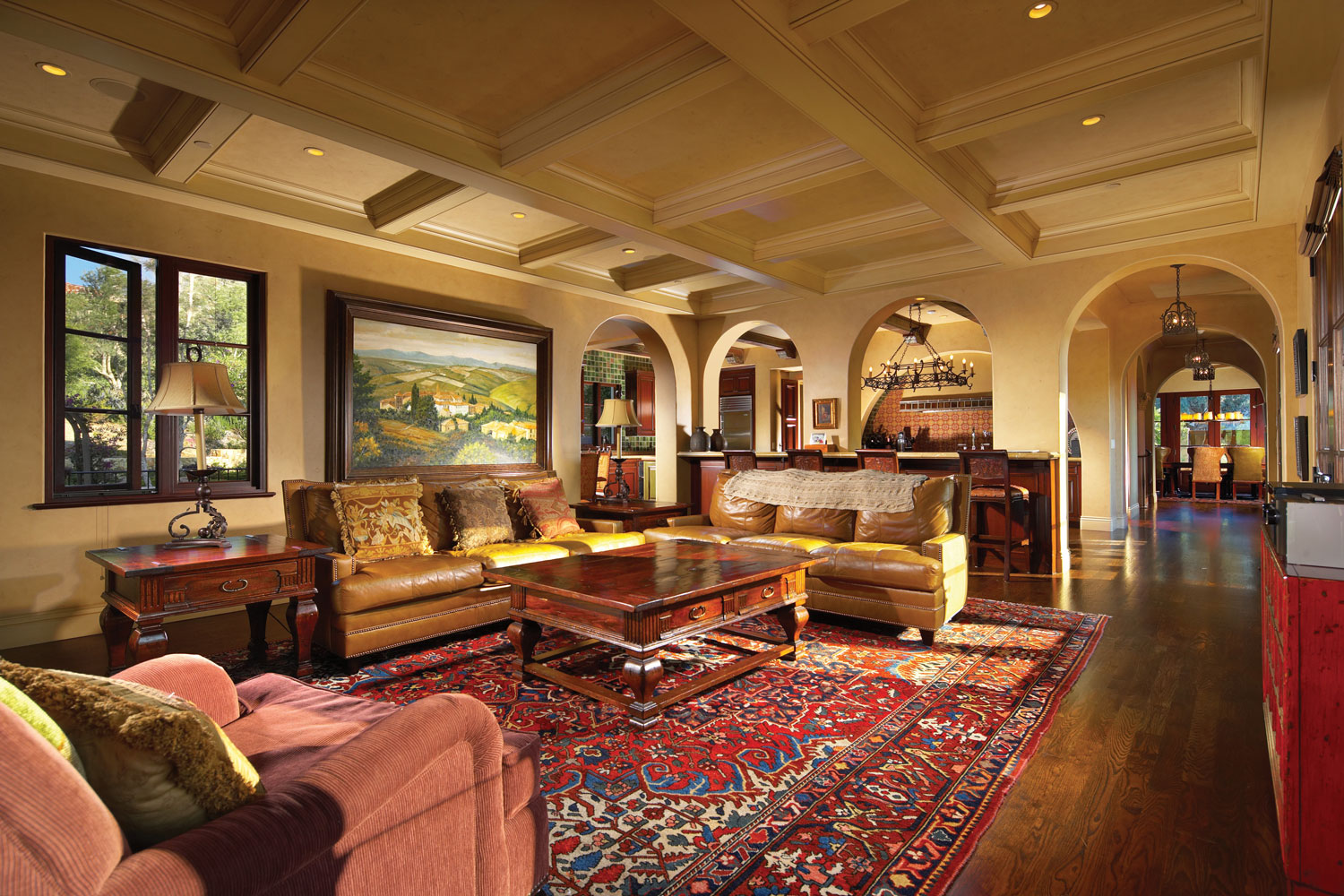 Spanish-Family-Room-Coffered-Ceiling-Archways-Corbin-Reeves.jpg