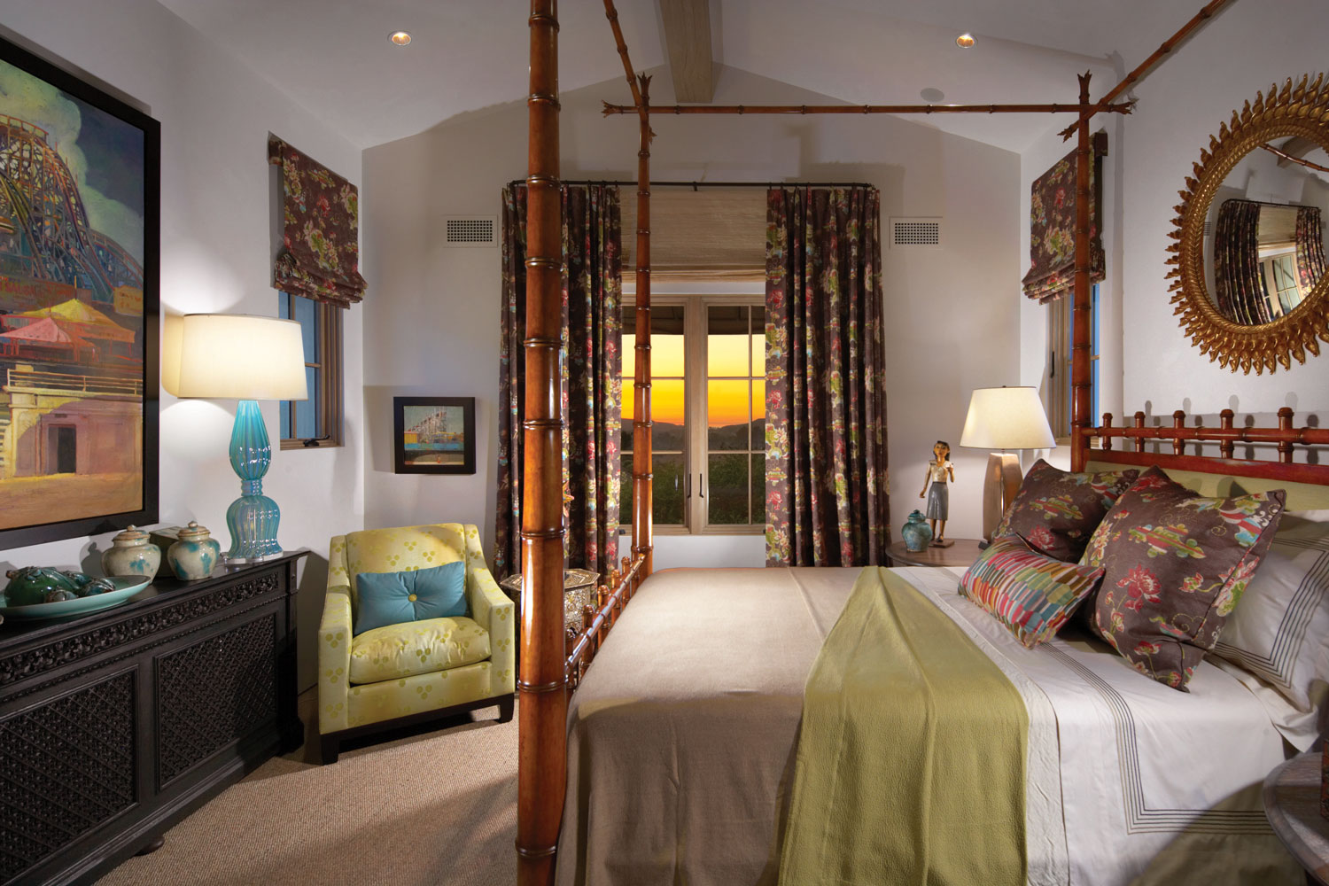 Eclectic-Guest-Bedroom-Vauled-Ceiling-Corbin-Reeves.jpg