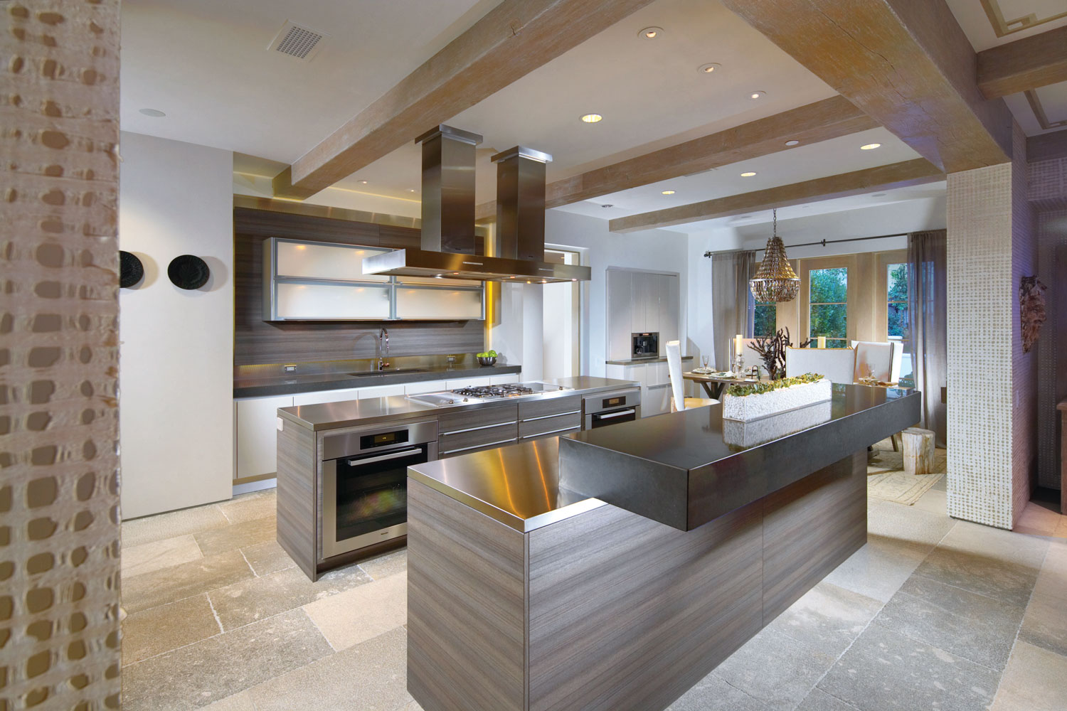 Modern-Kitchen-Beamed-Ceiling-Double-Island-Corbin-Reeves.jpg