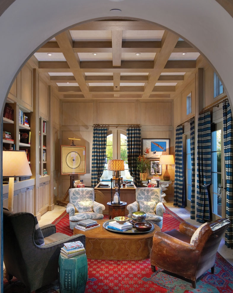 Electic-Office-Washed-Wood-Paneling-Coffered-Ceiling-Corbin-Reeves.jpg