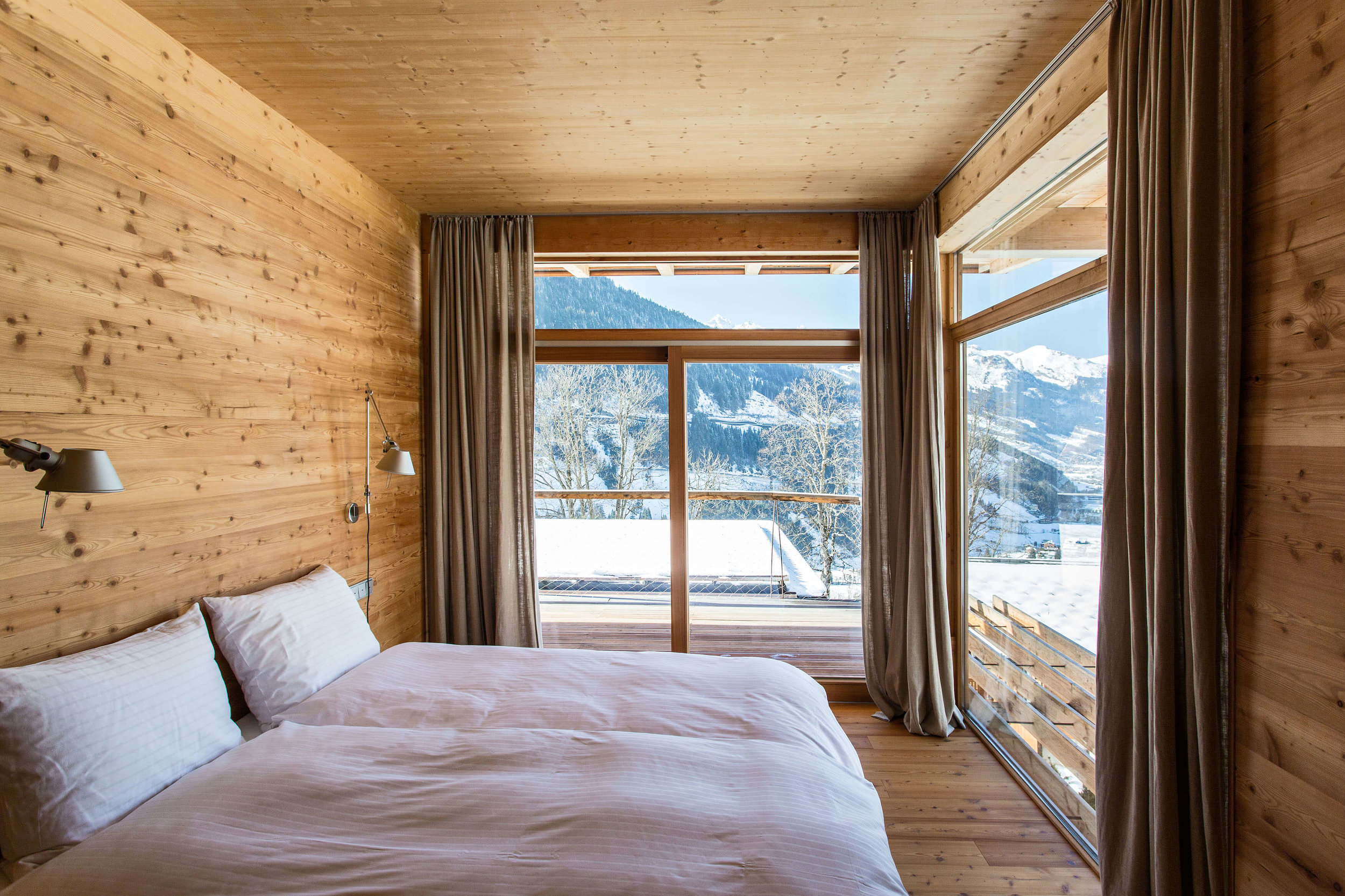 ALPENLOFTS - 5 bright, airy & cozy design lodges. Sustainably built by local architect Ike Ikrath, each of the @alpenlofts comes with a unique floor plan and well curated interior design. A perfect hide-away for you and yours (2-12 ppl) overlooking the entire valley!