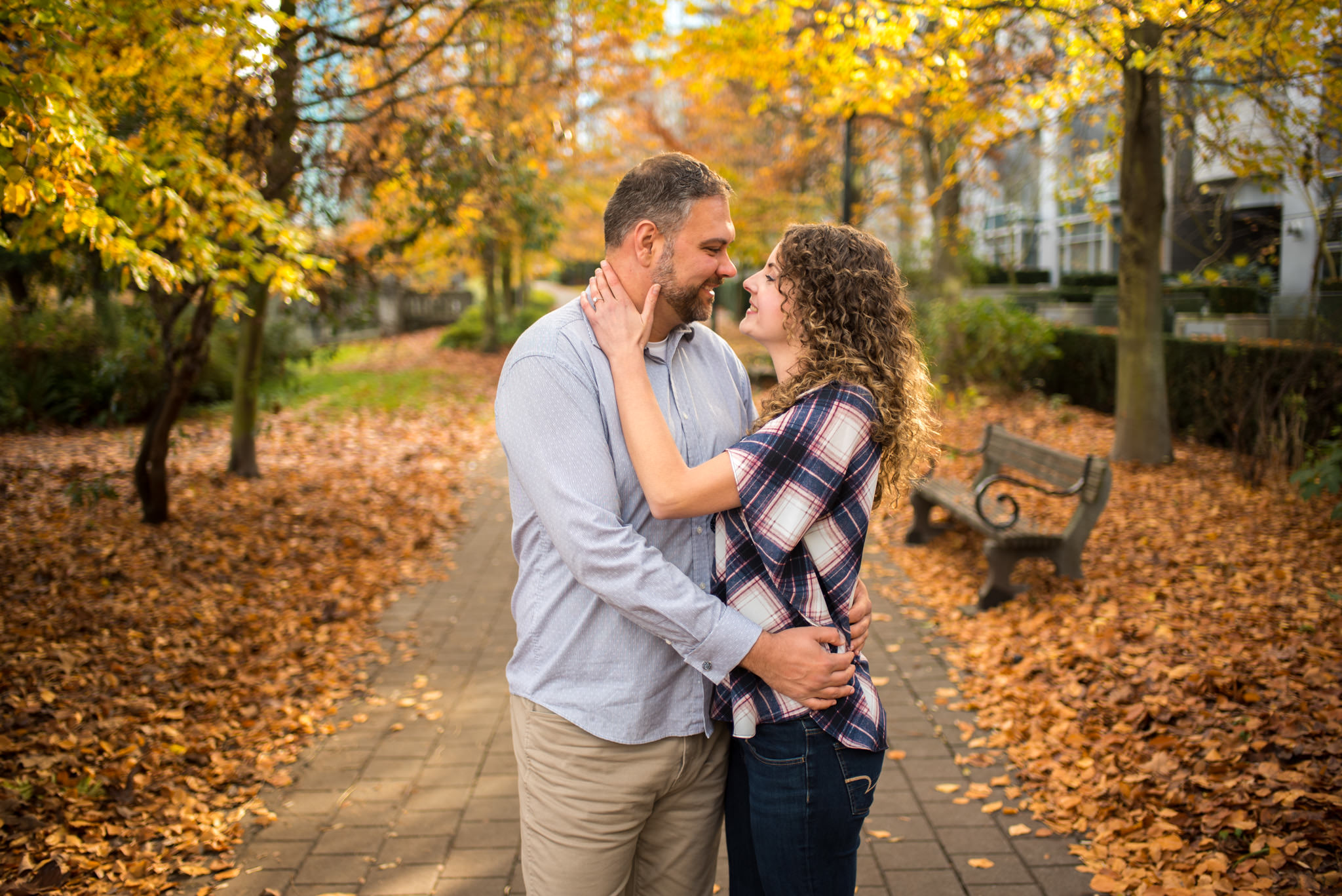 Vancouver engagement session at Coal Harbour