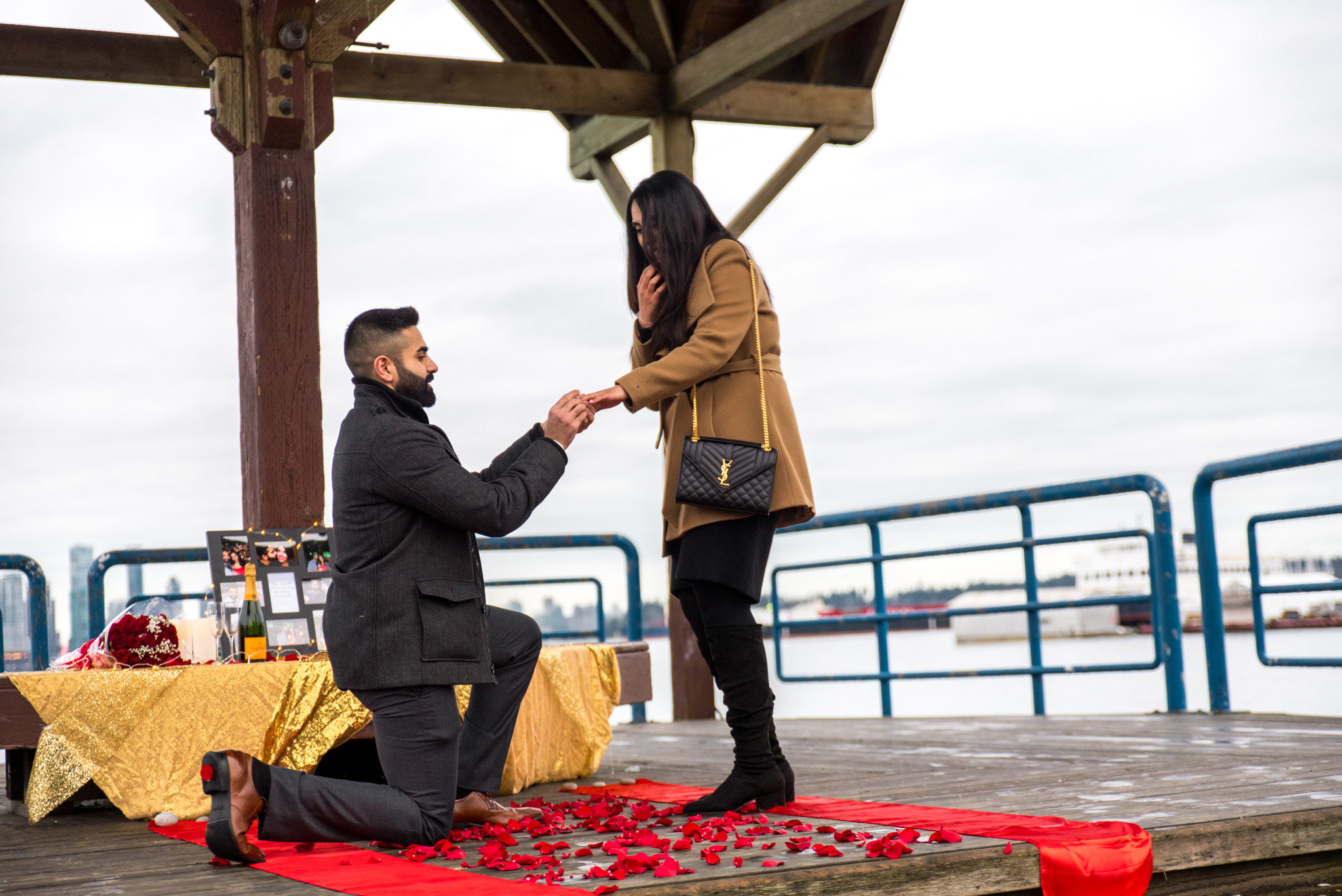 An Indian couple gets engaged in North Vancouver BC
