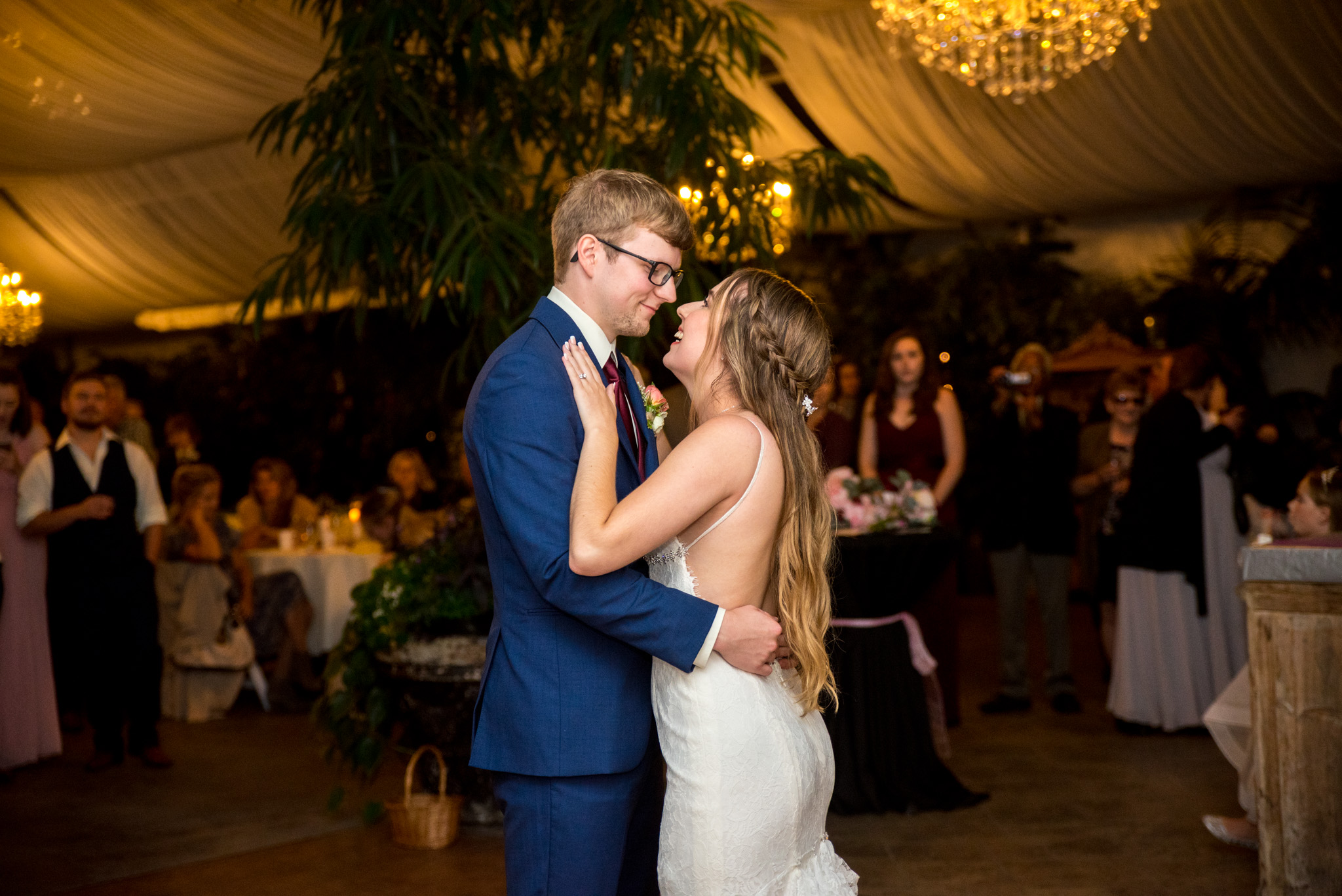 Bride and Groom perform first dance in Abbotsford BC