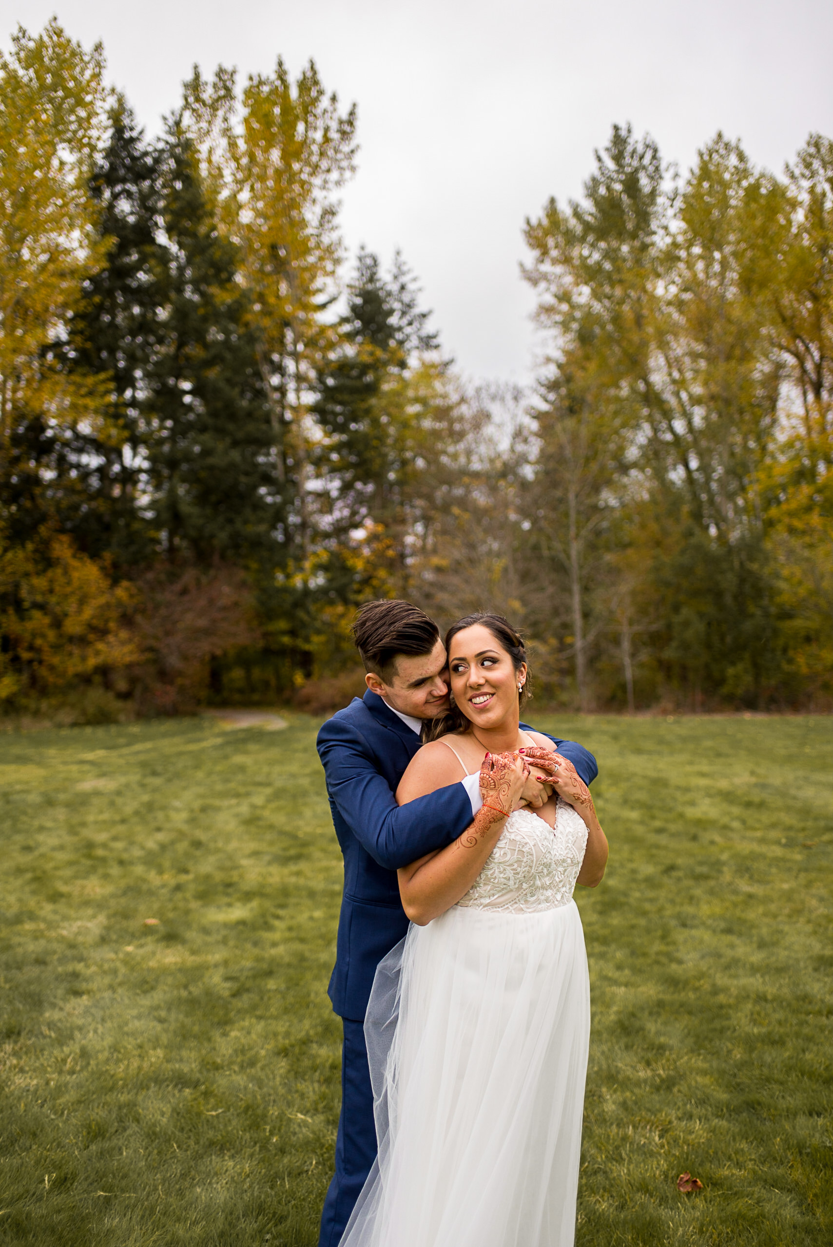 Bride and Groom at Campbell Valley Park in Langley BC