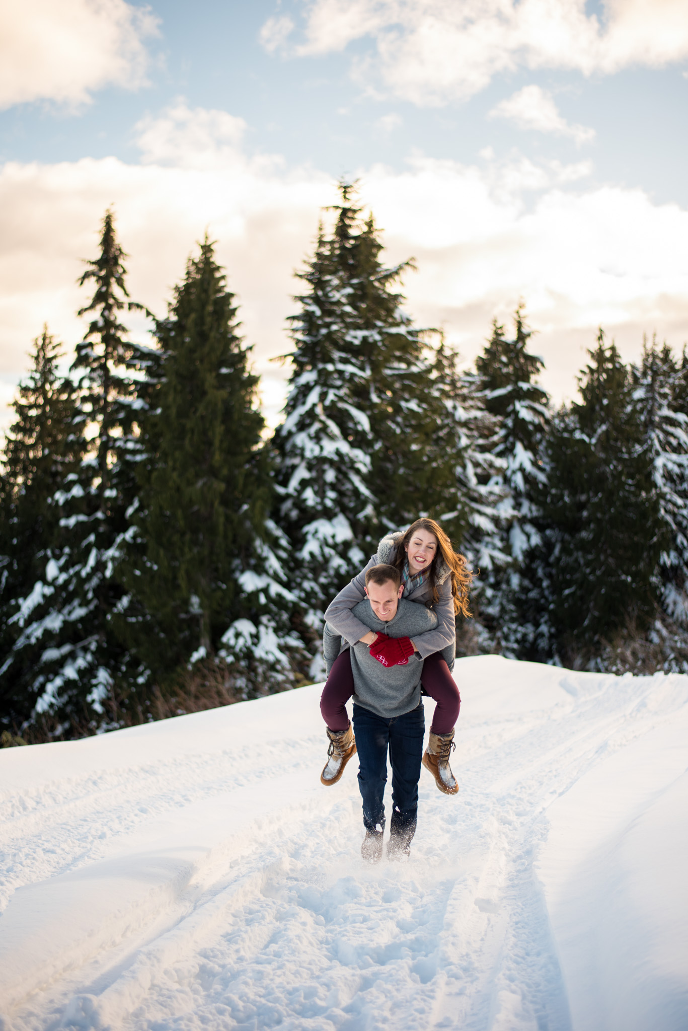 Mount Seymour Snowy engagement session