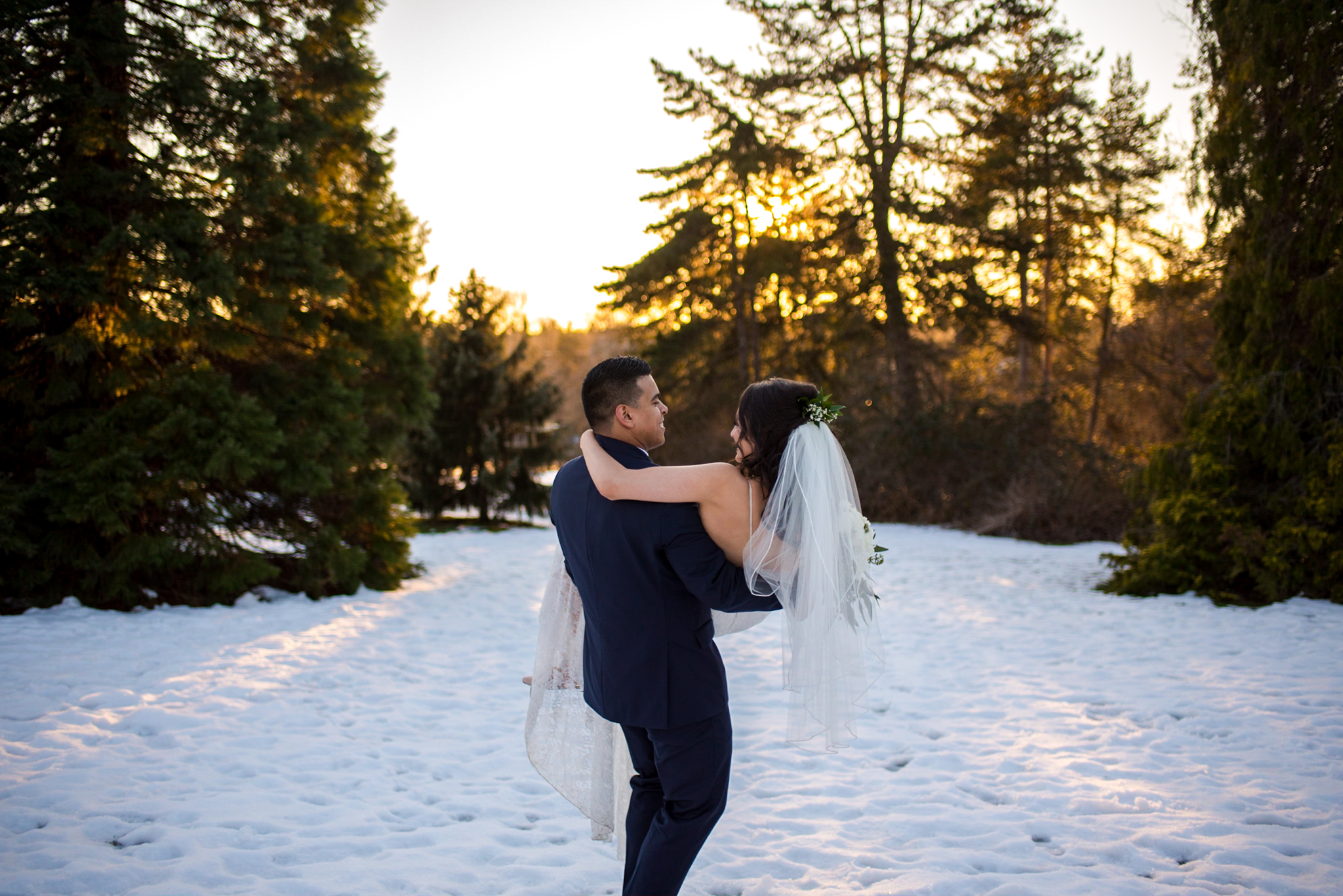Queen Elizabeth Park Winter Wedding Photography in Vancouver BC