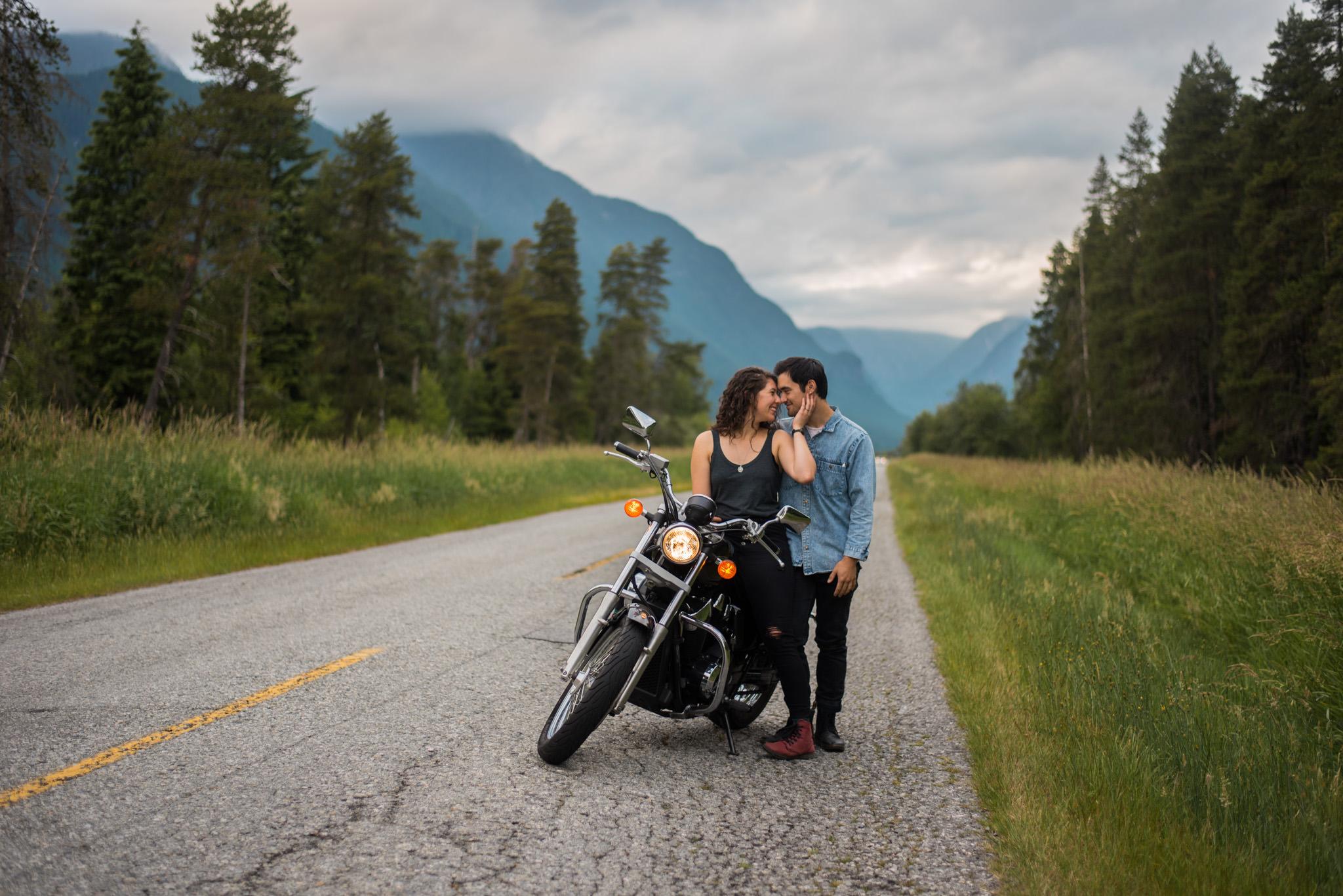 British Columbian couple in Pitt Lake at Pitt Meadows, BC