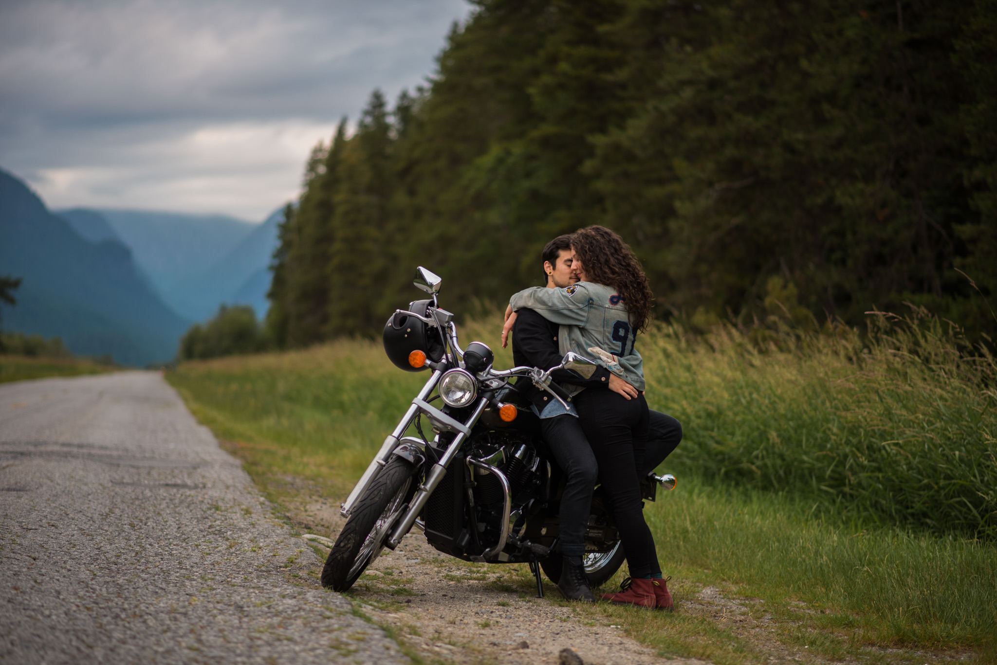Engagement session at Pitt Lake in Pitt Meadows BC