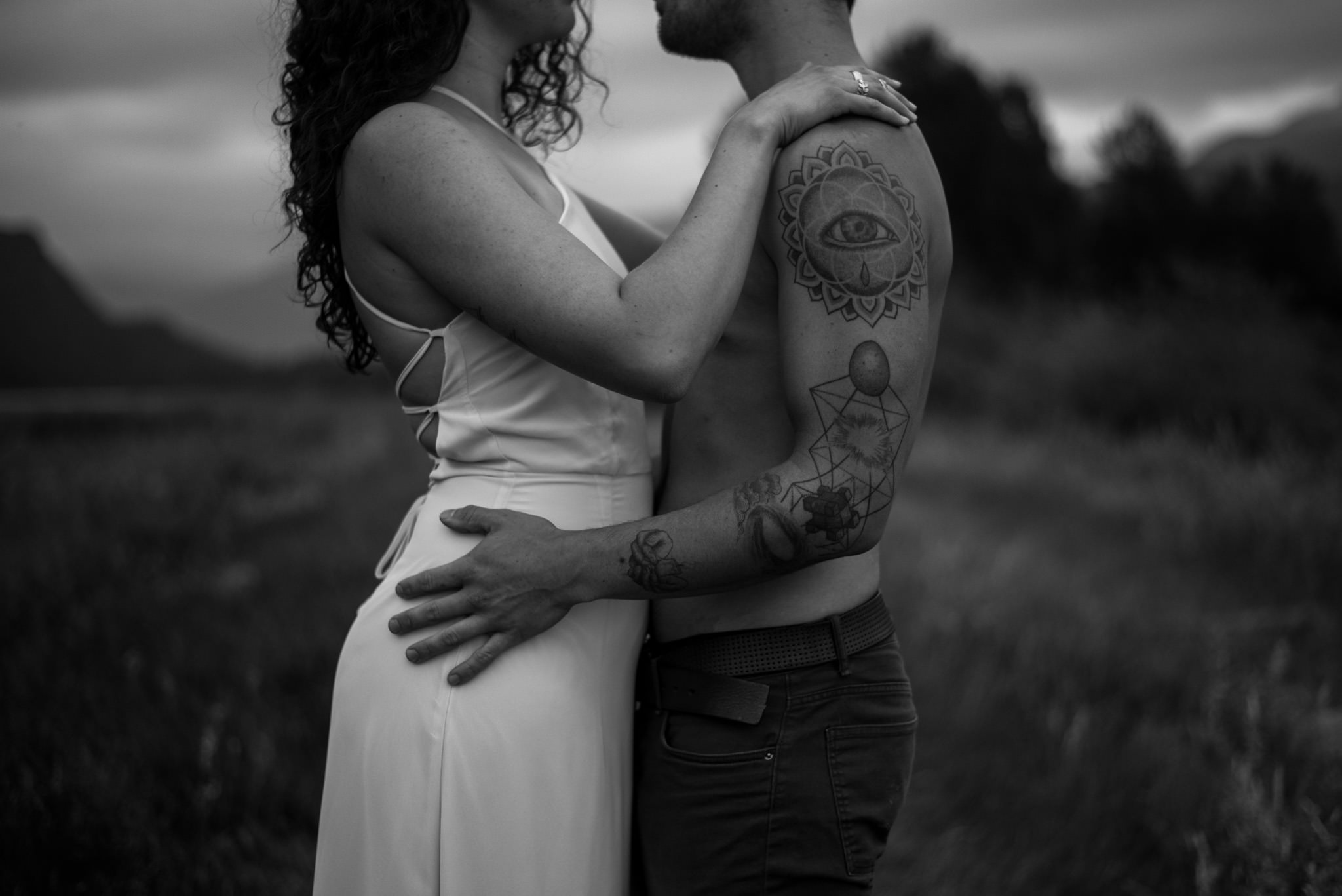 Couple with tattoos in Pitt Meadows BC