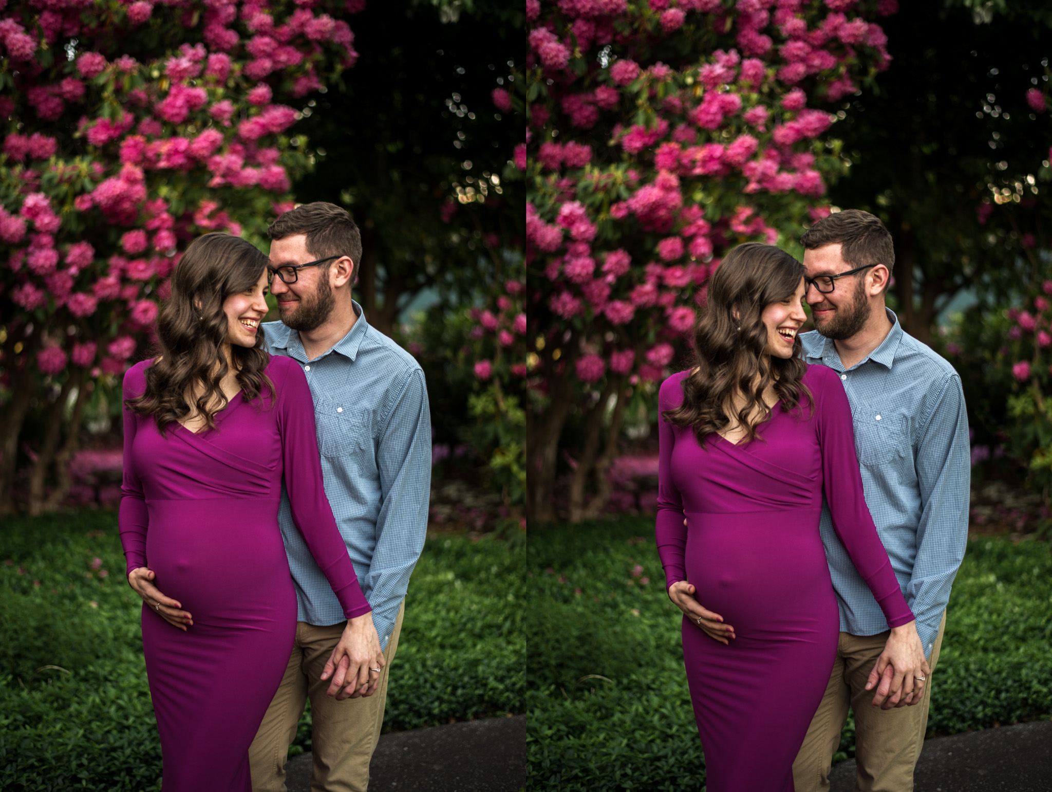 Maternity session at Deer Lake Park, in Burnaby BC