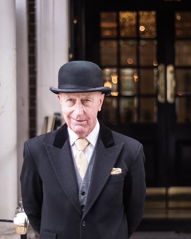 — I've decided to expand the project a little to include hotels and so 'hospitality' will be the general theme now. Restaurants will still be the main focus but characters such as Peter have proven too difficult to turn down… — Peter has been the doorman at @thegoring for 54 years. After working as a messenger boy on Fleet Street and a job ferrying Ten Pound Poms down to Sydney, he began working as a luggage porter for a hotel on Bayswater Road along with his two brothers. His younger brother left to work at The Goring but got fed up after a few months and offered Peter the job. This was 1965 and he still welcomes guests into the prestigious hotel to this day, having met countless celebrities, politicians, and royalty over the decades. He's a real institution at the hotel and not a soul escapes his cheeky wit and charm. — More on Peter and The Goring on the website soon! — . — Long Service: London is a photography project about London's hospitality industry and its longest-serving members of staff, with a view to becoming a coffee table book at some point. The response has been fantastic so far and many venues are keen to be involved. I'll be posting some of the final portraits, details, exteriors, and behind the scenes images from the project over the coming weeks and months. — . Please follow, share, spread the word and get in touch if you'd like to be involved! longservicelondon.com