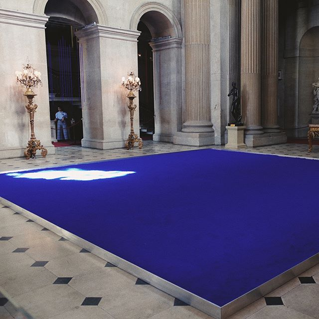 """To feel the soul without explaining it, without vocabulary, and to represent this sensation."" - Yves Klein#YvesKlein#BlenheimPalace#blue"