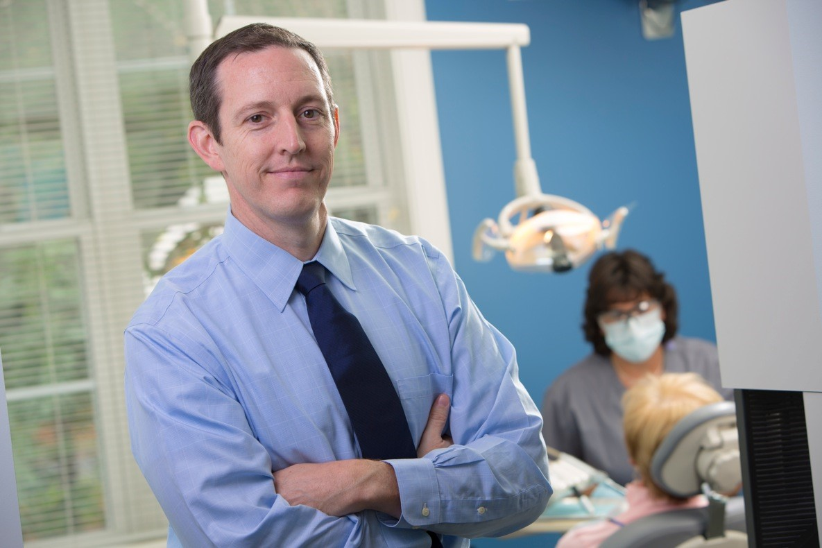 """I love helping to relieve my patients' snoring and sleep apnea problems."" - ""These custom-made oral appliances protrude the mandible (lower jaw) to open the airway while you sleep. They have become really popular because the comfort of the device has improved dramatically over the last several years."" – Matthew Mastrorocco, D.M.D."