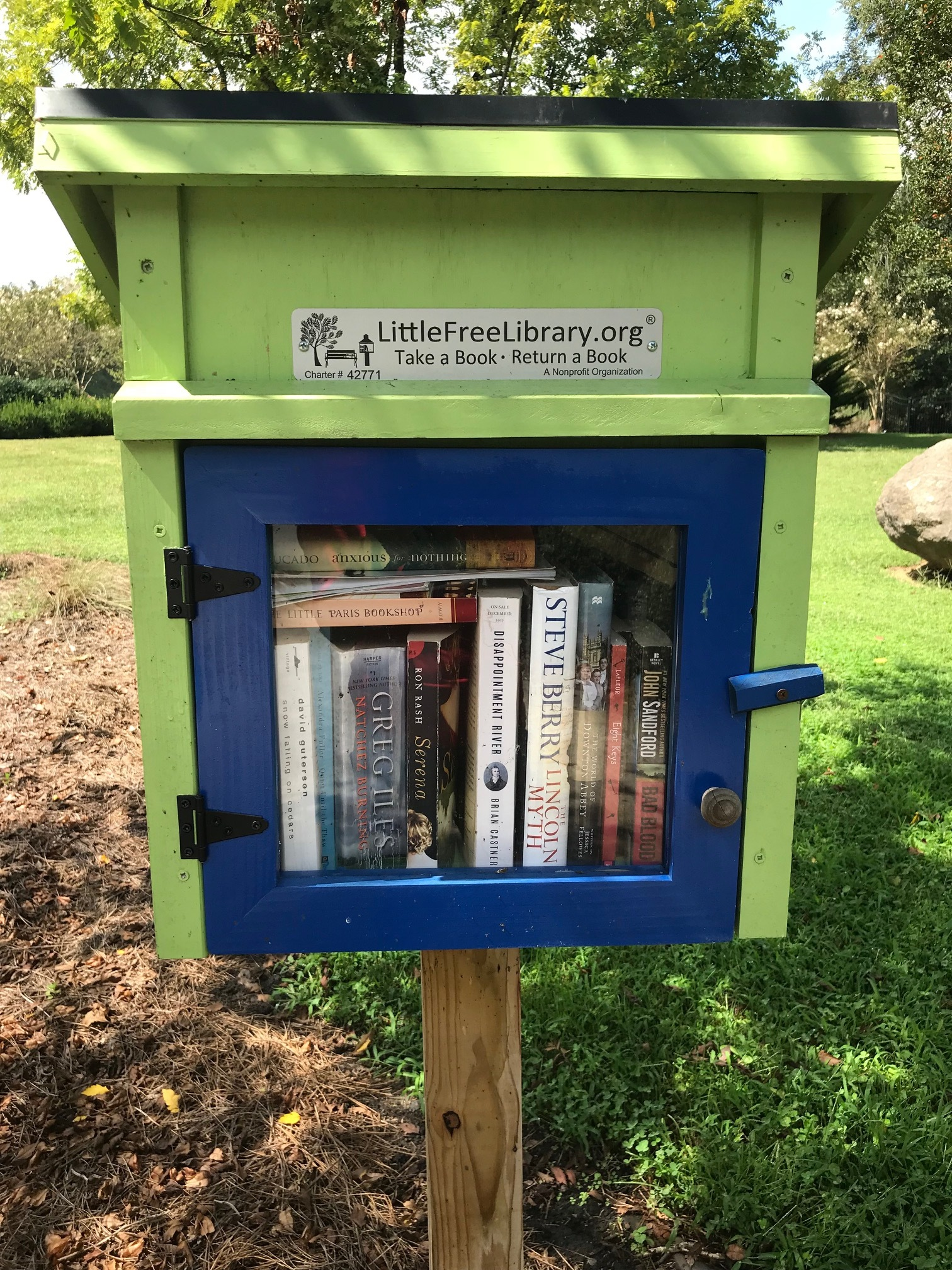 Julie Tippett's Little Free Library was a Christmas gift. Photo by Cyma Shapiro